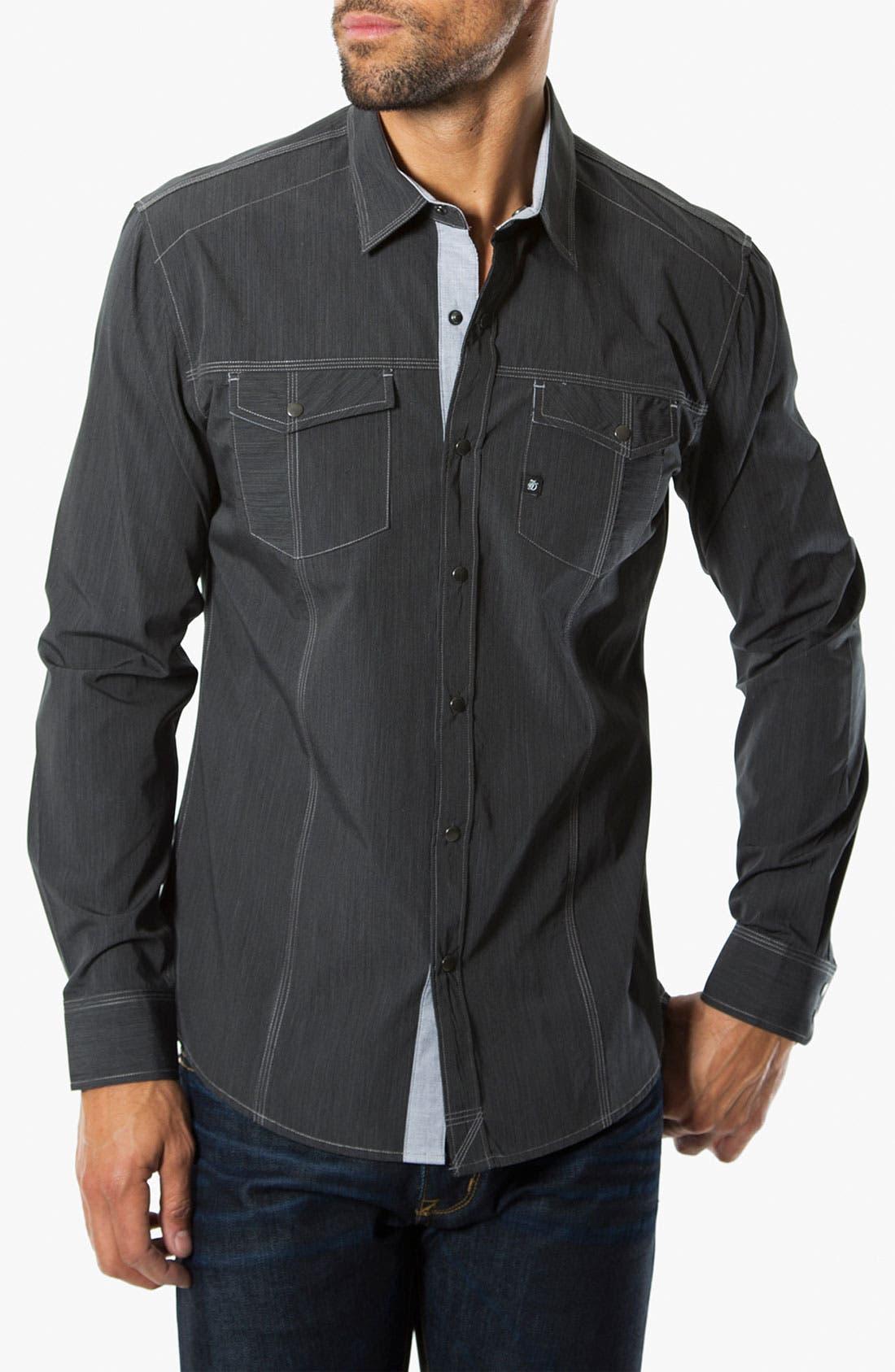 Alternate Image 1 Selected - 7 Diamonds 'Street Life' Trim Fit Cotton Sport Shirt