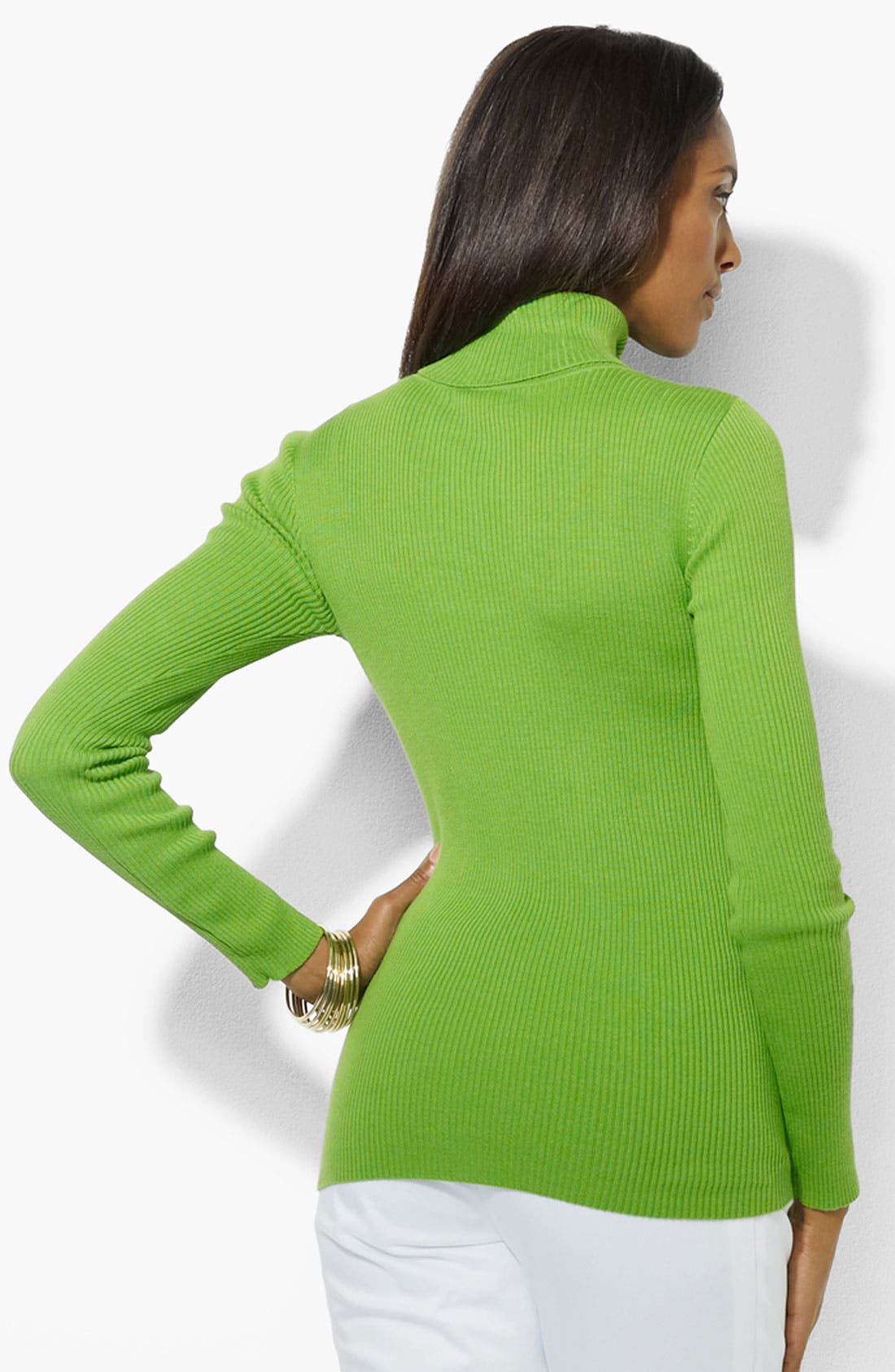 Alternate Image 2  - Lauren Ralph Lauren Turtleneck (Petite) (Online Only)