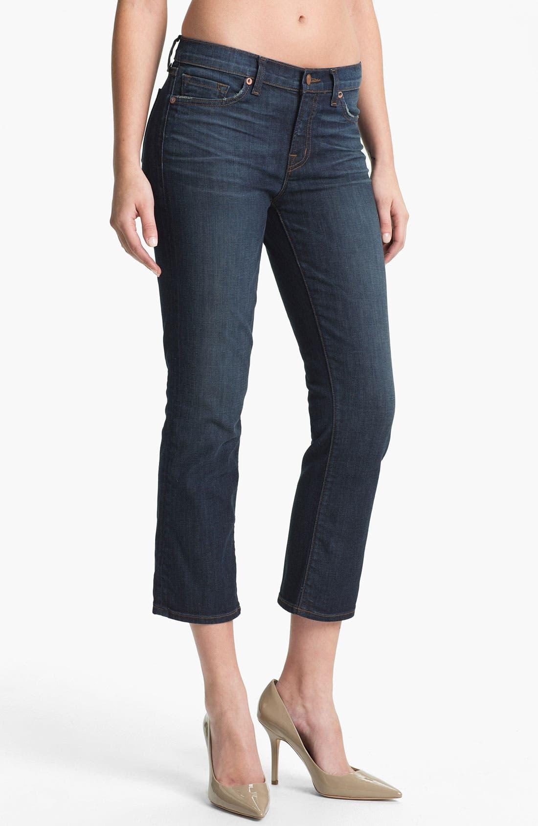 Main Image - J Brand 'Sylvie' Crop Flare Leg Jeans (East Wick)