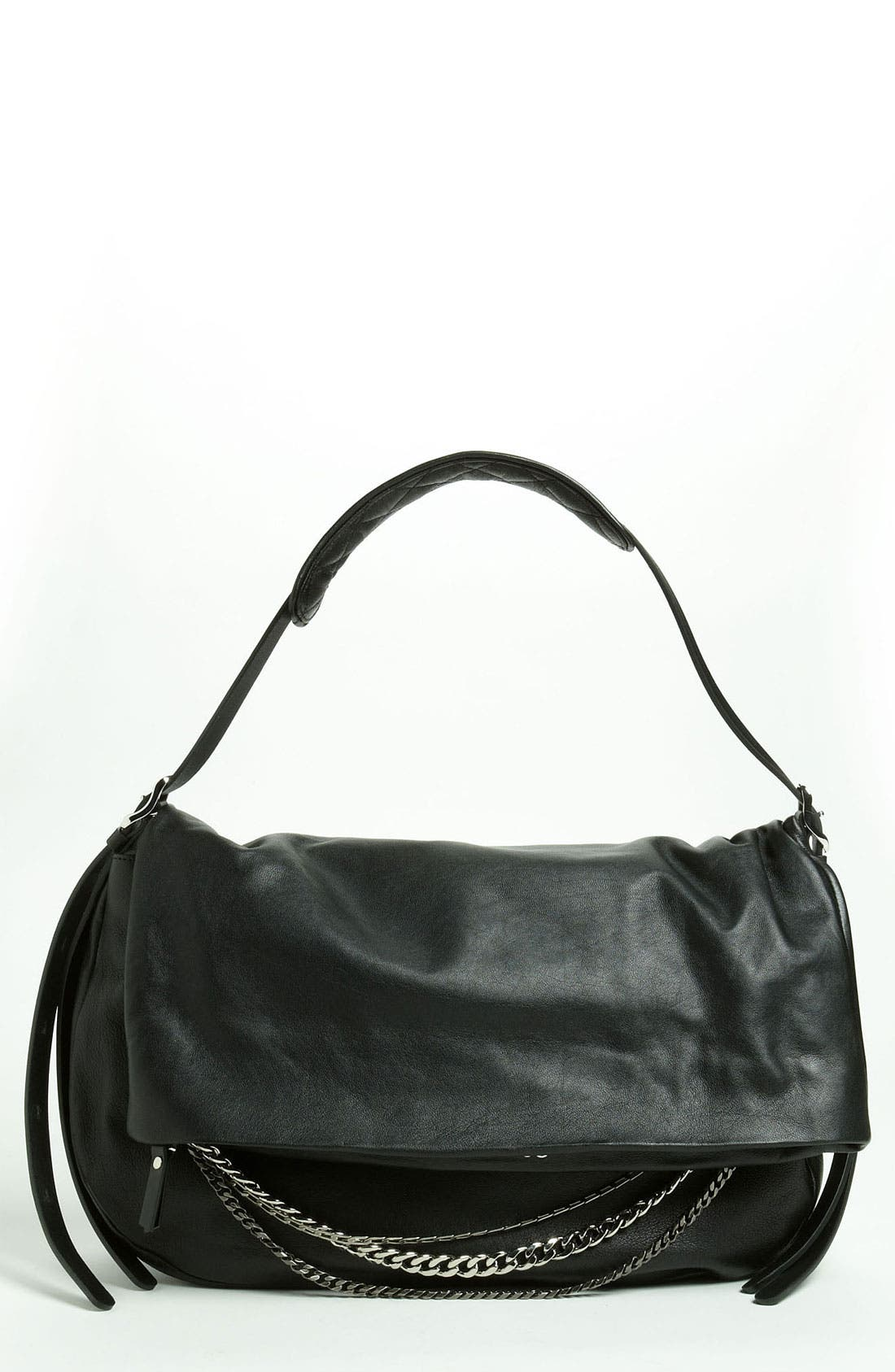 Main Image - Jimmy Choo 'Biker - Large' Leather Shoulder Bag