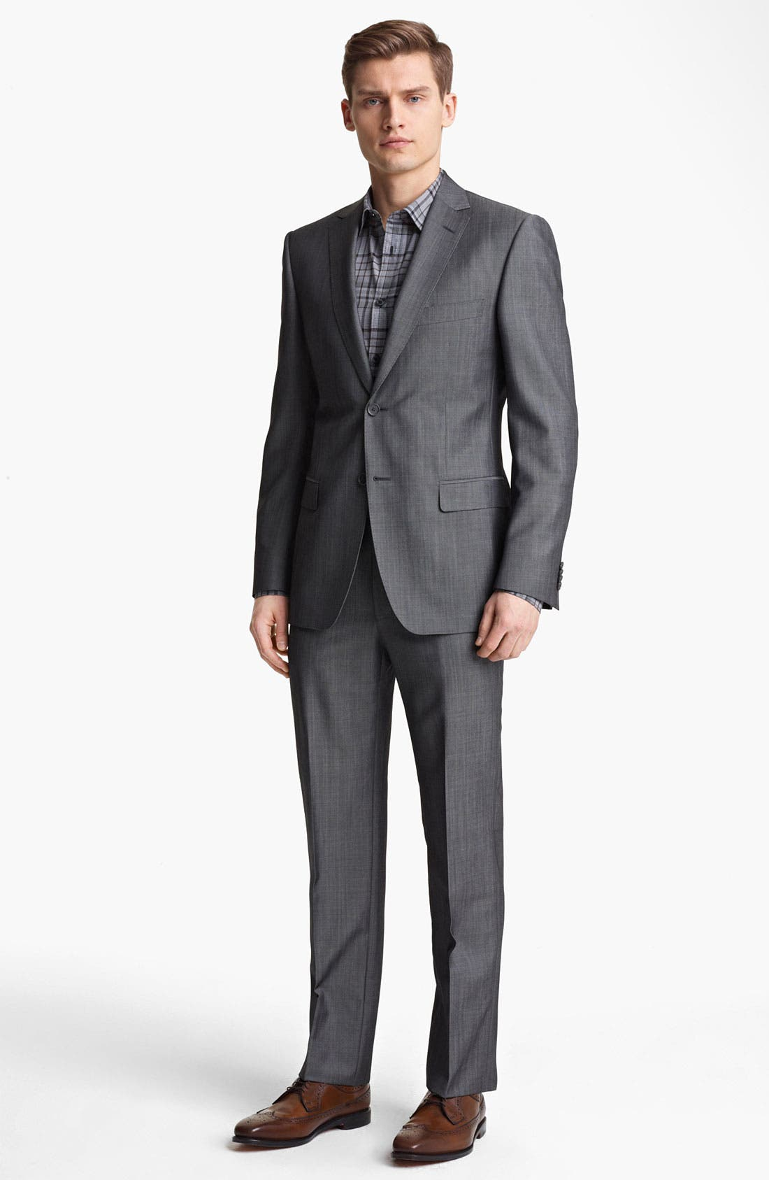 Alternate Image 2  - Z Zegna Trim Fit Wool Blend Suit