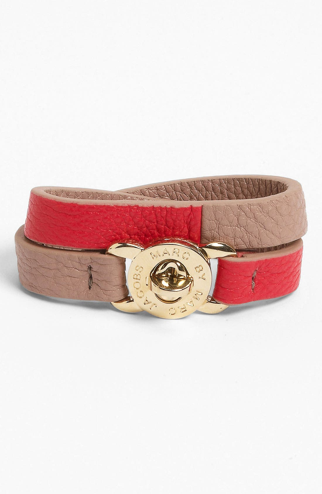 Main Image - MARC BY MARC JACOBS 'Turnlock - Katie' Leather Wrap Bracelet