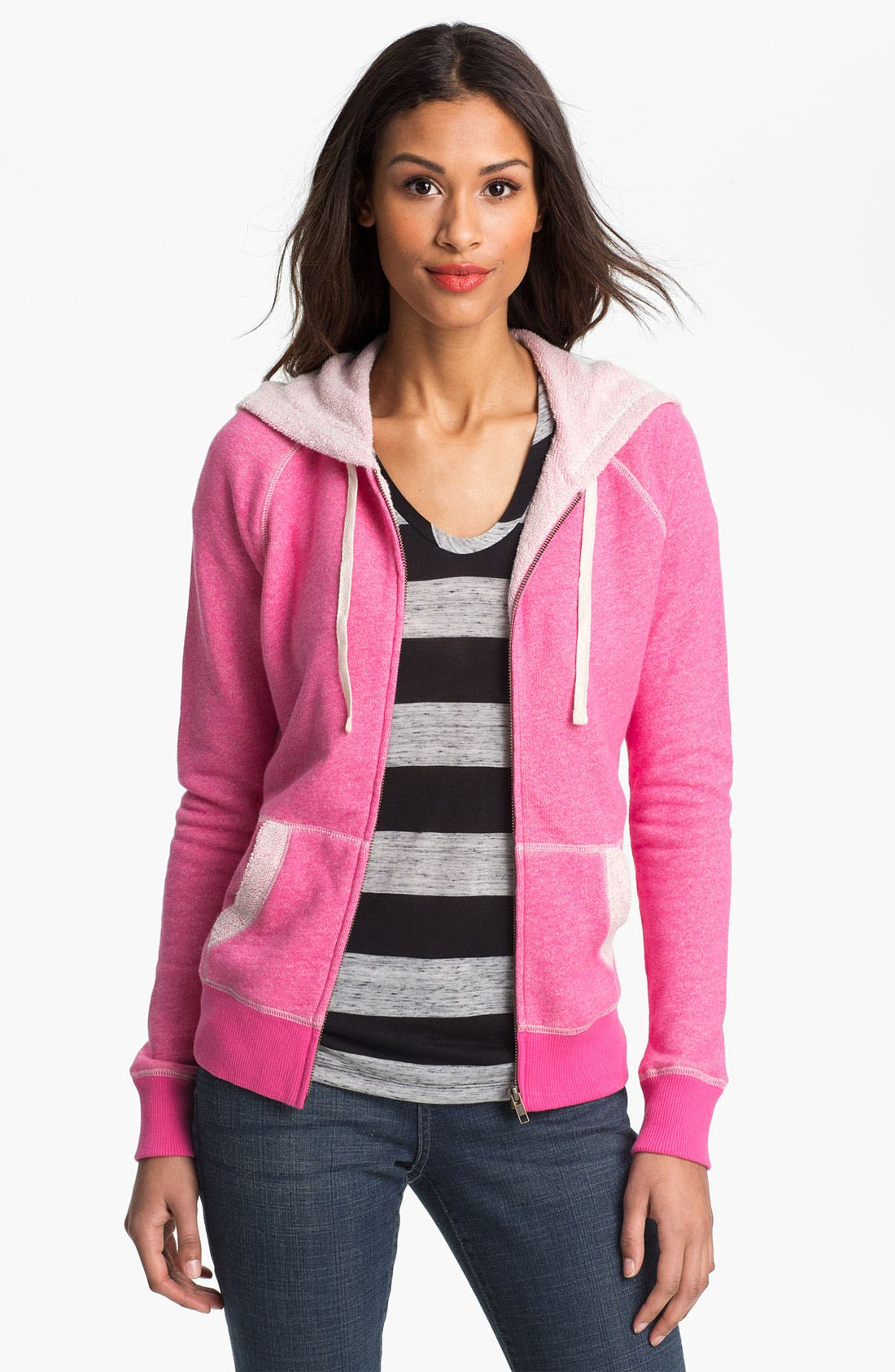 Main Image - Caslon® Cotton French Terry Hoodie