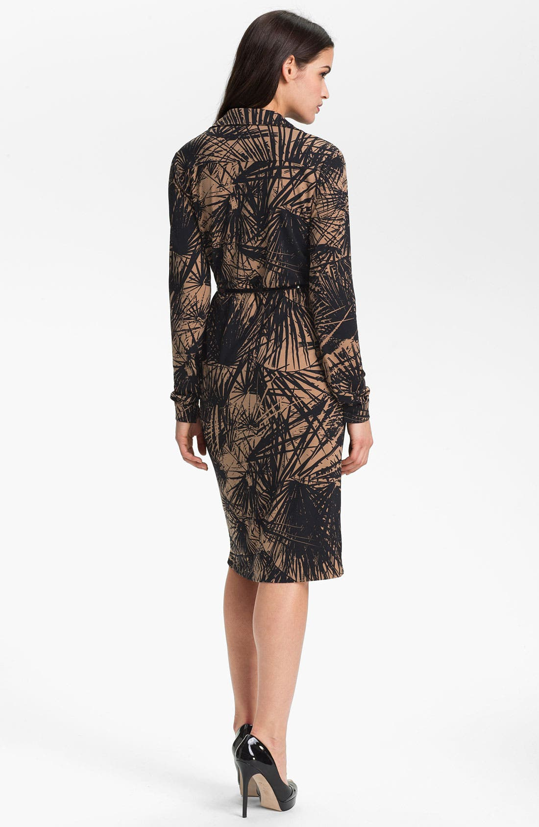 Alternate Image 2  - Anne Klein 'Leo - Palm Print' Shirtdress