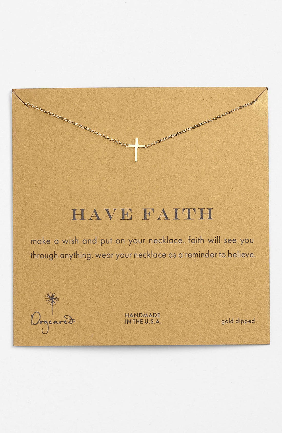 Main Image - Dogeared 'Reminder - Faith' Boxed Pendant Necklace