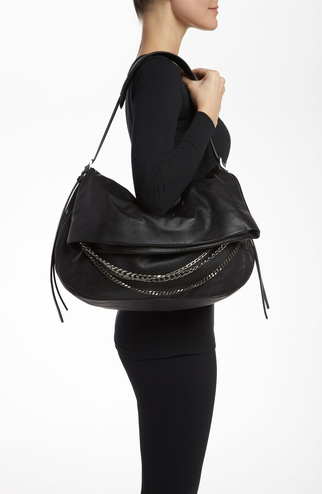 Alternate Image 2  - Jimmy Choo 'Biker - Large' Leather Shoulder Bag