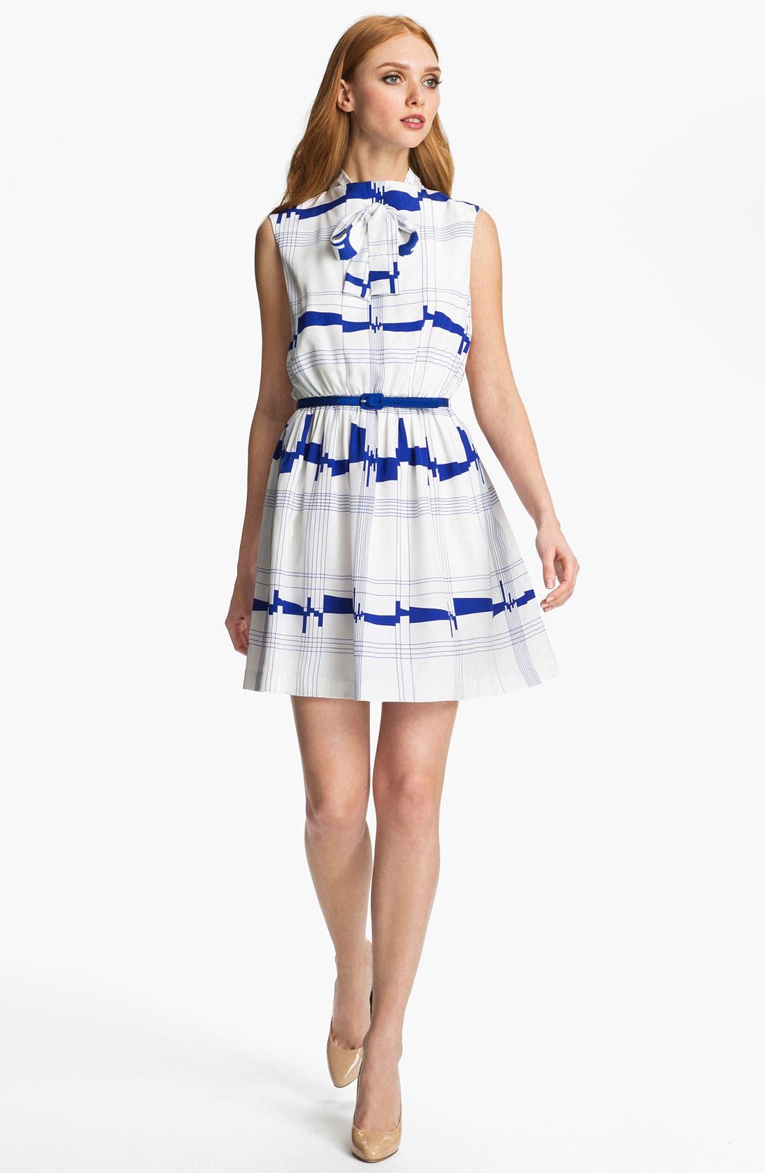Main Image - Milly 'Secretary' Silk A-Line Dress