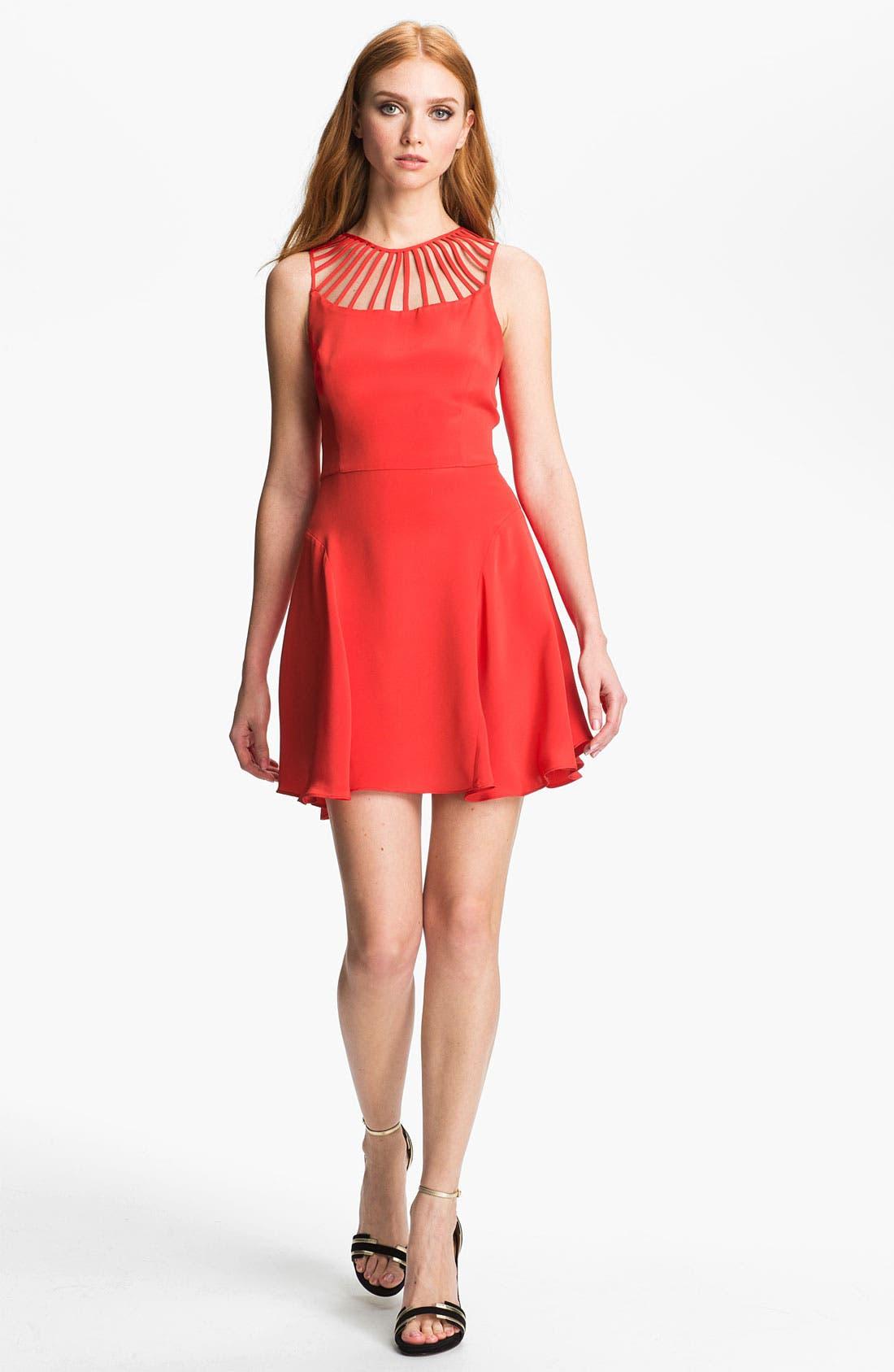 Alternate Image 1 Selected - Parker 'Syrah' Silk Fit & Flare Dress