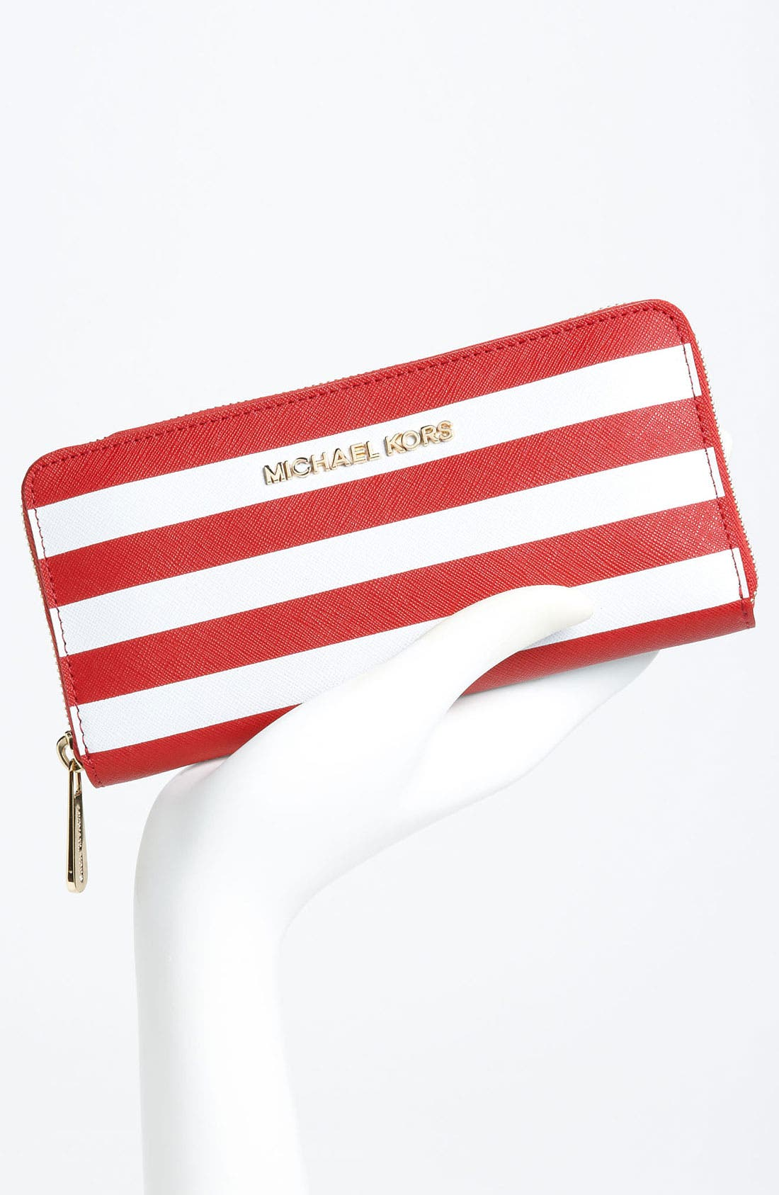 Alternate Image 4  - MICHAEL Michael Kors Striped Continental Wallet