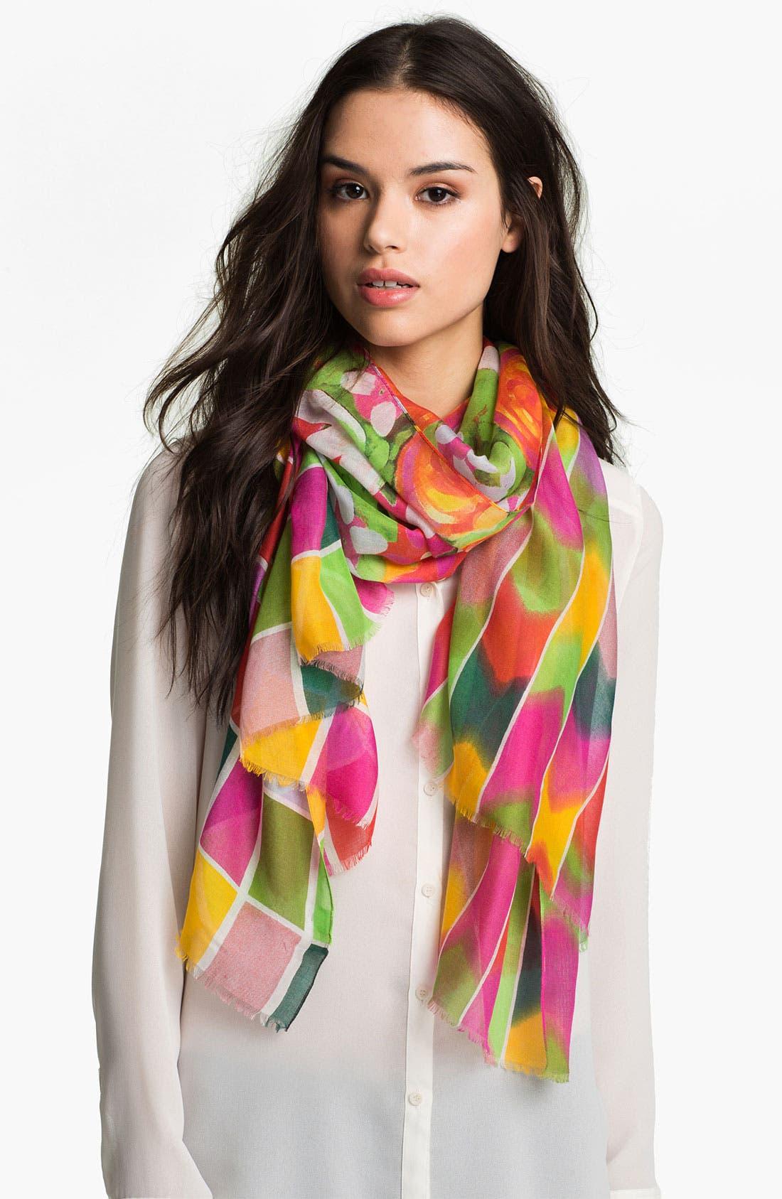 Main Image - Nordstrom Floral Stripe Scarf