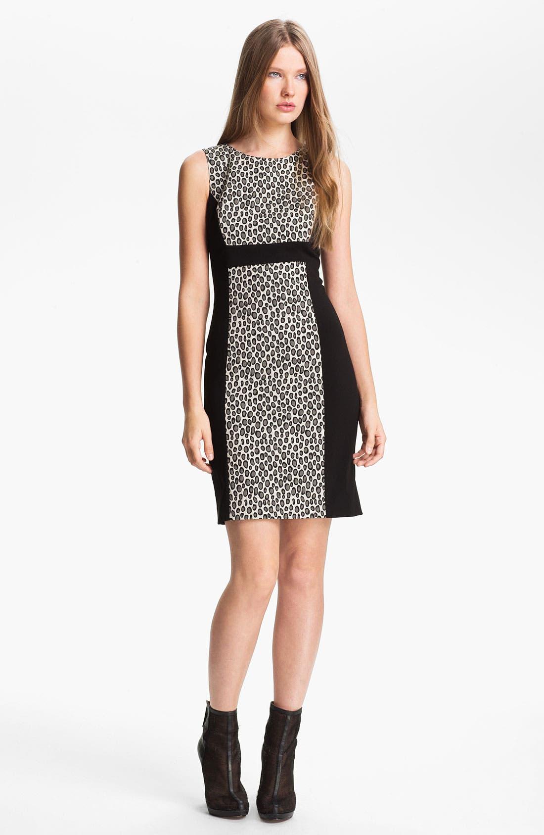 Alternate Image 1 Selected - Rachel Zoe 'Ricky' Contrast Panel Sheath Dress