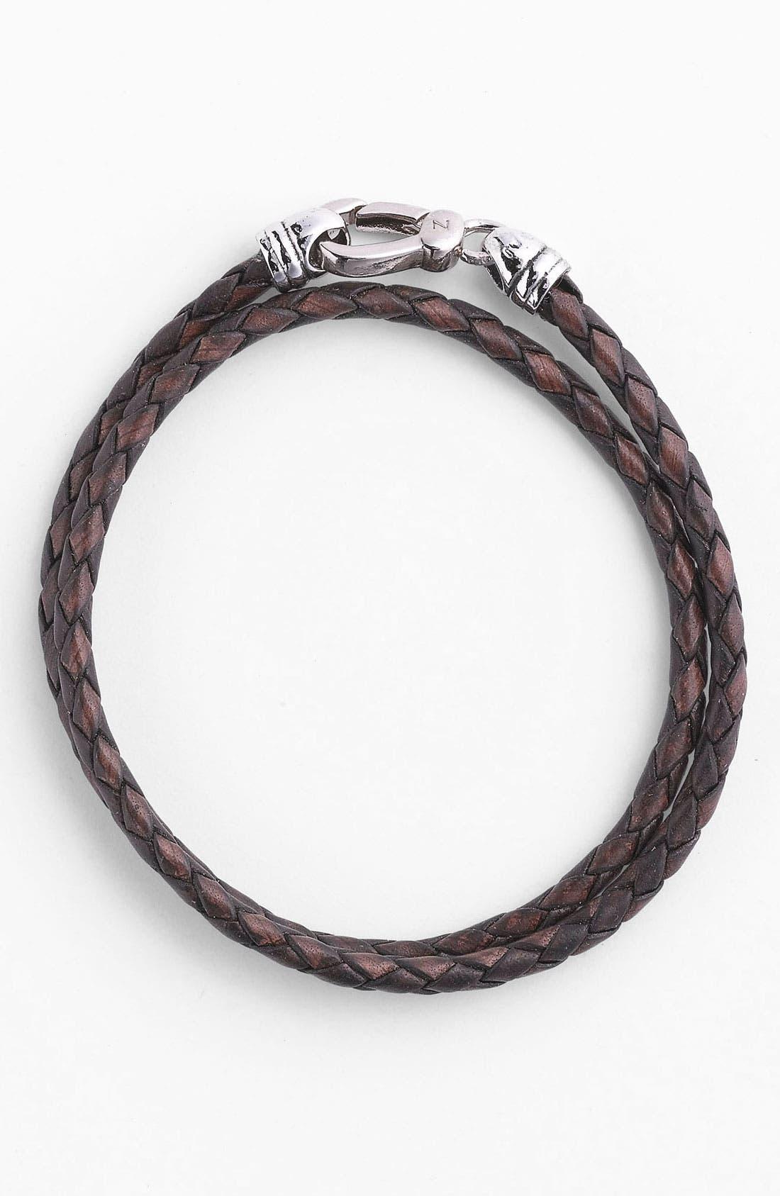 Alternate Image 1 Selected - Zack Double Wrap Braided Bracelet