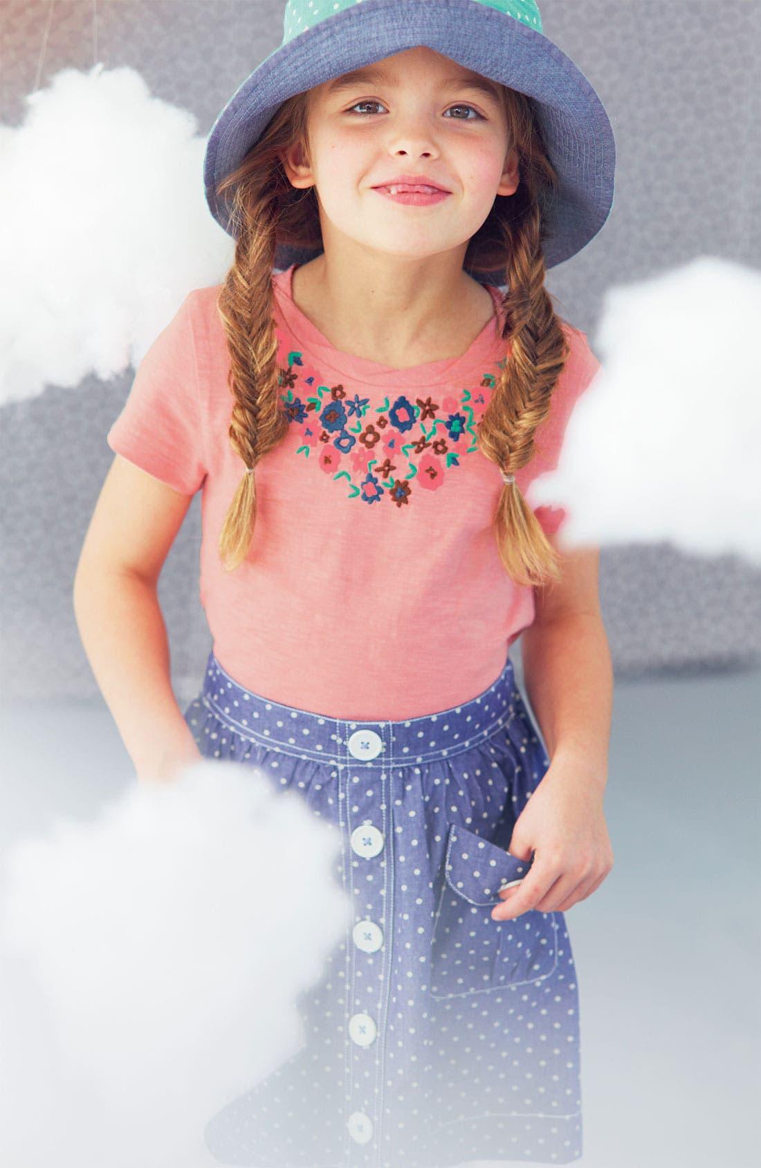 Alternate Image 2  - Mini Boden 'Pretty' Embroidered Tee (Toddler, Little Girls & Big Girls)