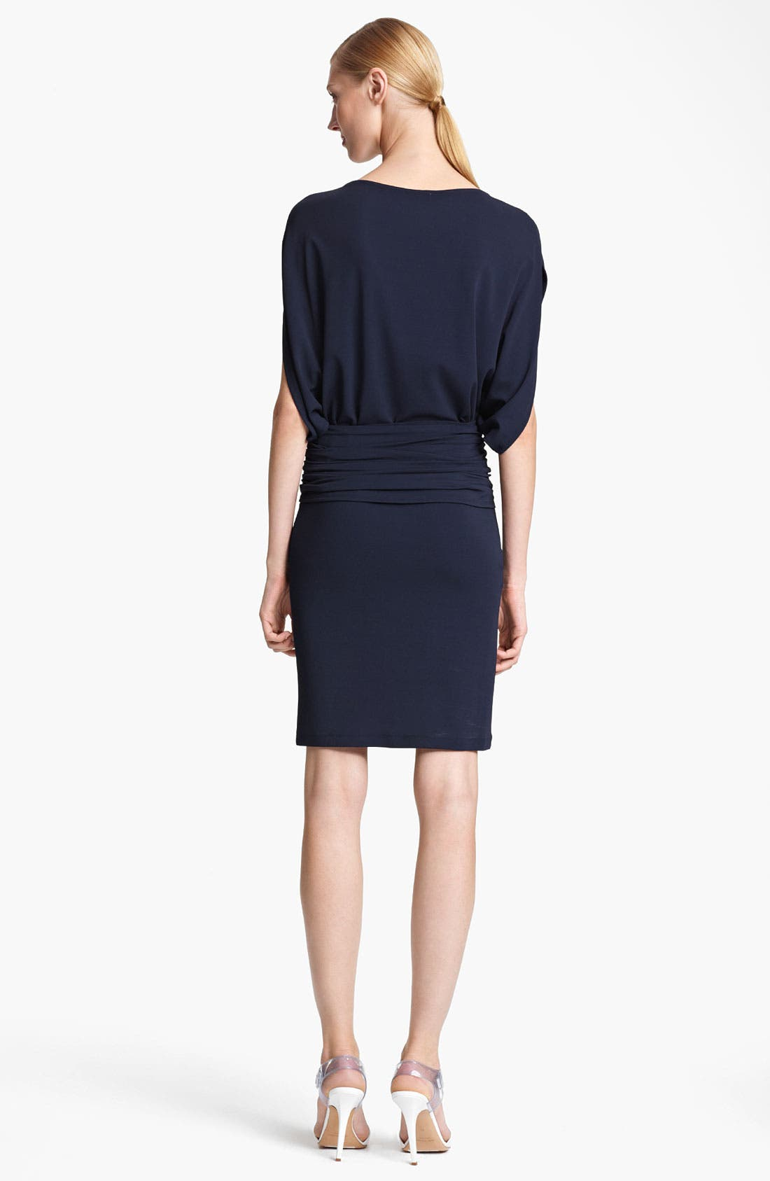Alternate Image 2  - Michael Kors Flutter Sleeve Matte Jersey Dress