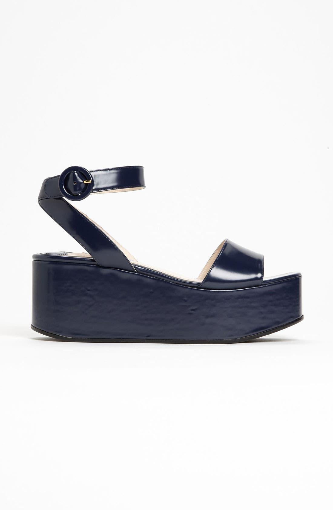 Alternate Image 4  - Prada Ankle Strap Wedge Sandal