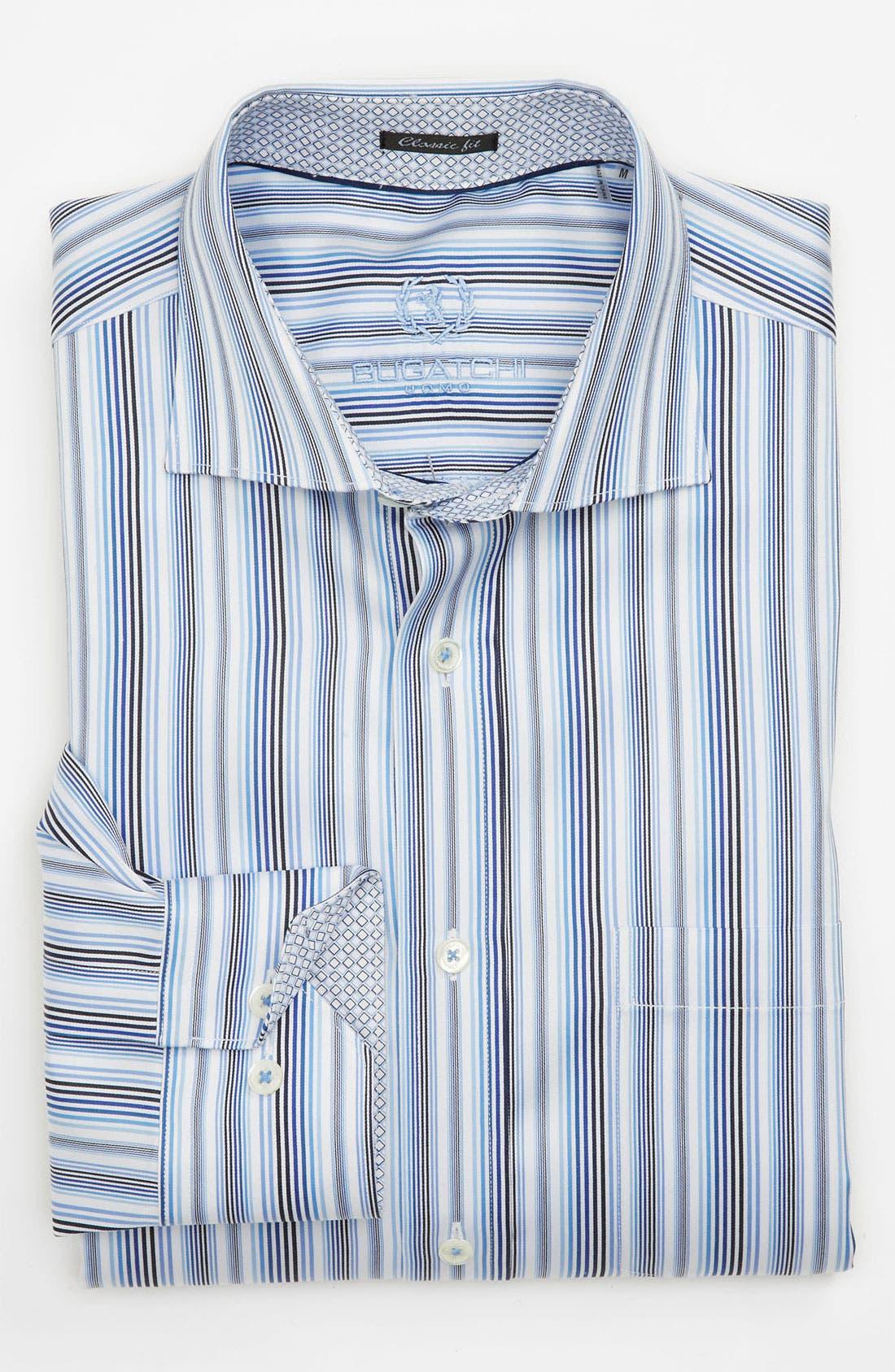 Alternate Image 2  - BUGATCHI Classic Fit Sport Shirt