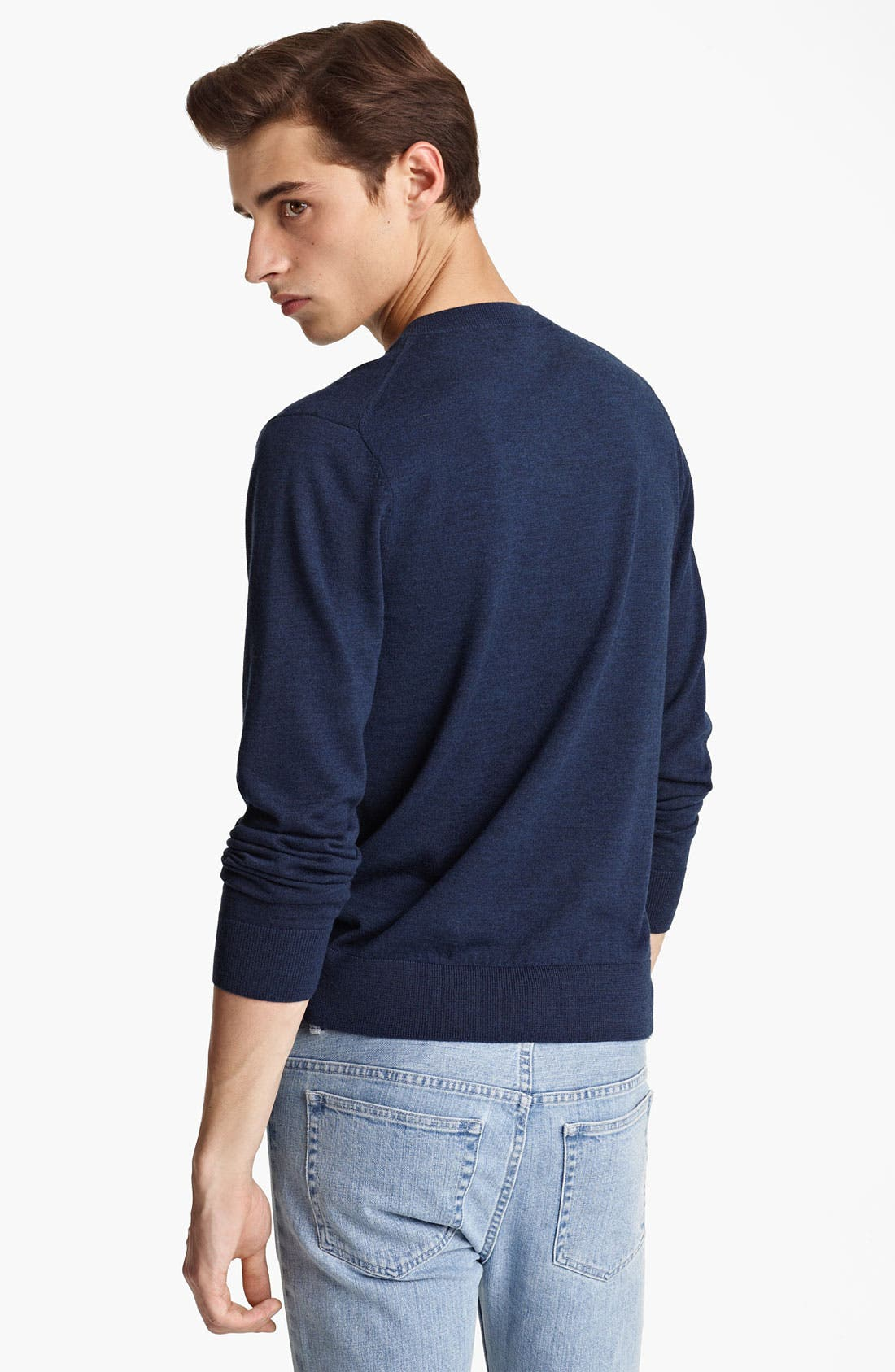 Alternate Image 2  - A.P.C. V-Neck Wool Sweater