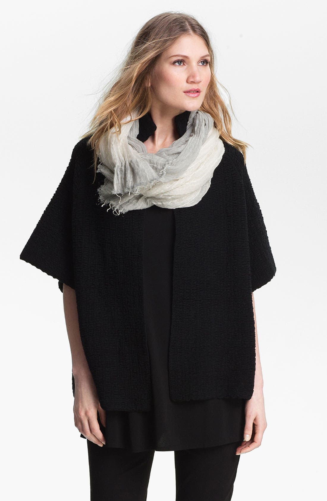 Alternate Image 1 Selected - Eileen Fisher Stand Collar Jacket (Online Only)