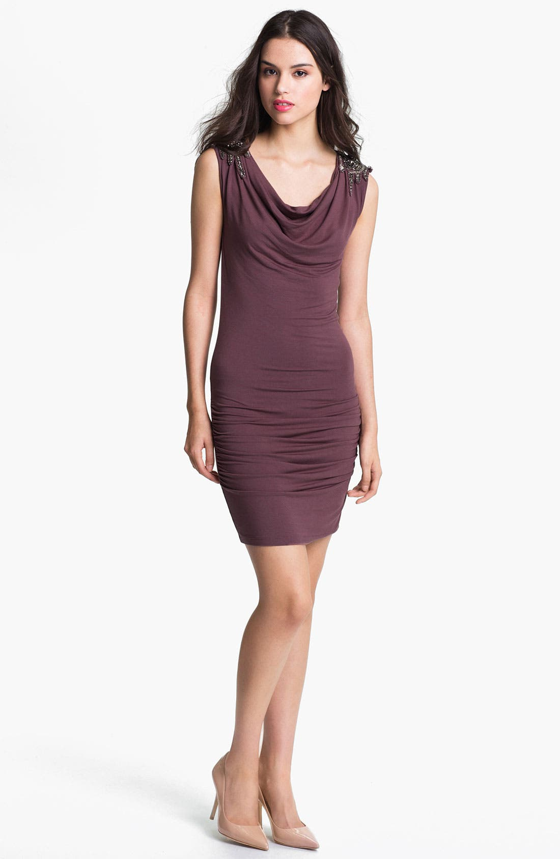 Main Image - Felicity & Coco Jeweled Ruched Minidress (Nordstrom Exclusive)