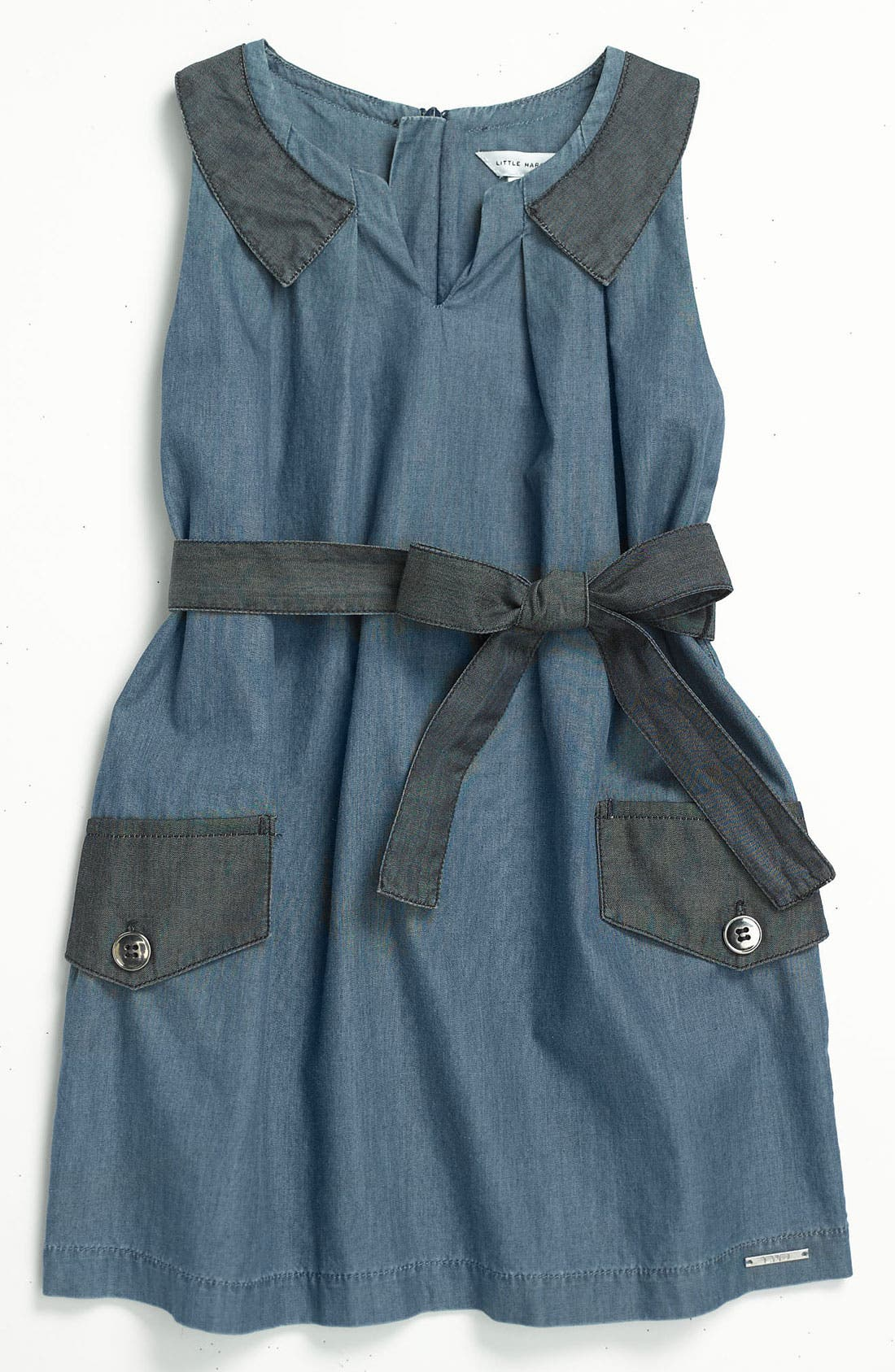 Alternate Image 1 Selected - LITTLE MARC JACOBS Sleeveless Chambray Dress (Little Girls & Big Girls)