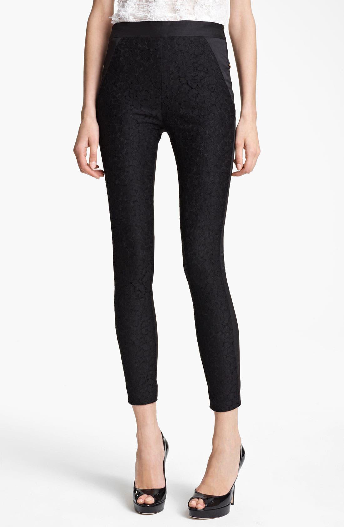 Main Image - Nina Ricci Lace Crop Pants