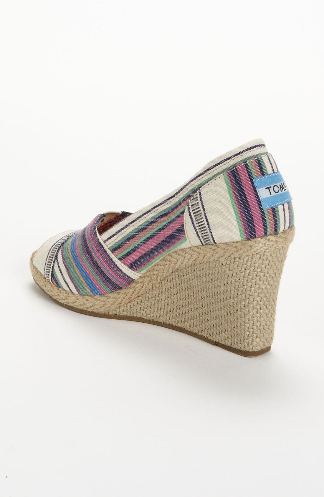 Alternate Image 2  - TOMS 'Village Stripe' Wedge
