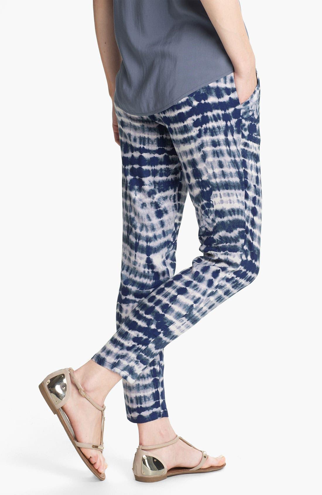 Alternate Image 2  - Lily White Print Tapered Pants (Juniors)