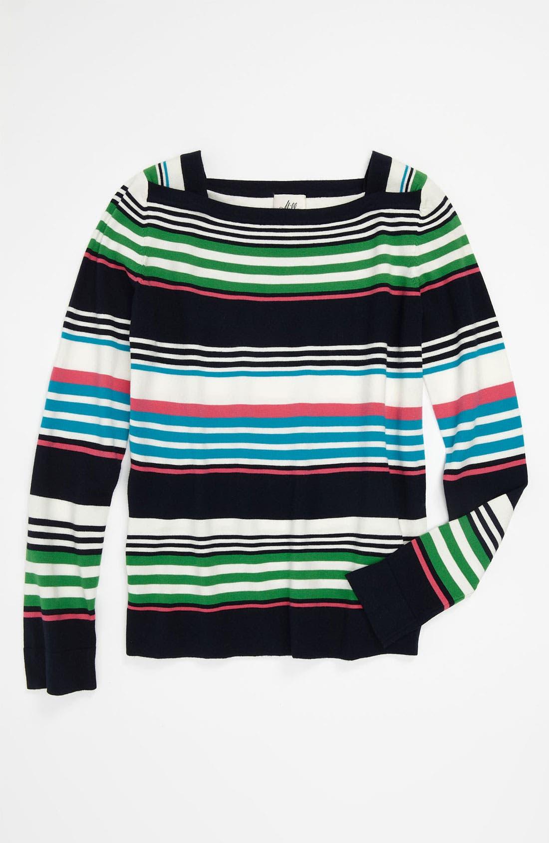 Main Image - Milly Minis 'Camden' Multi Stripe Shirt (Big Girls)
