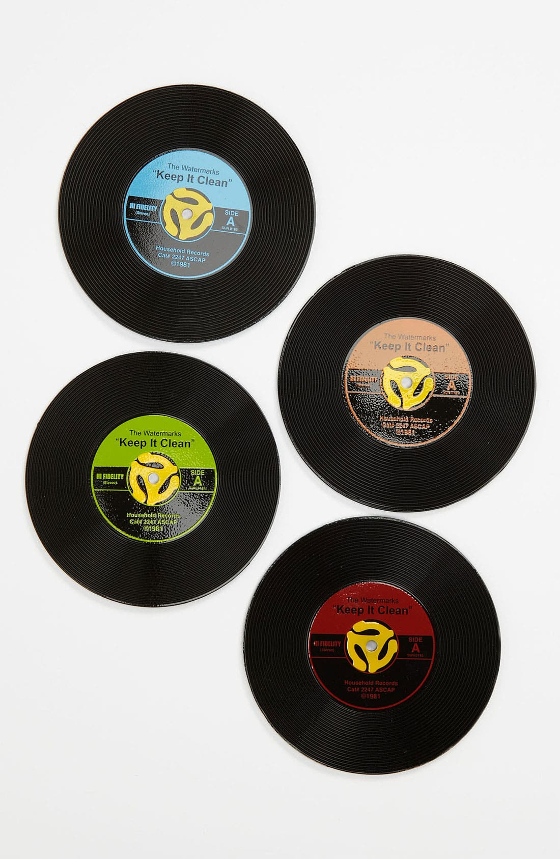 Main Image - GAMAGO 45 Record Coasters (Set of 4)