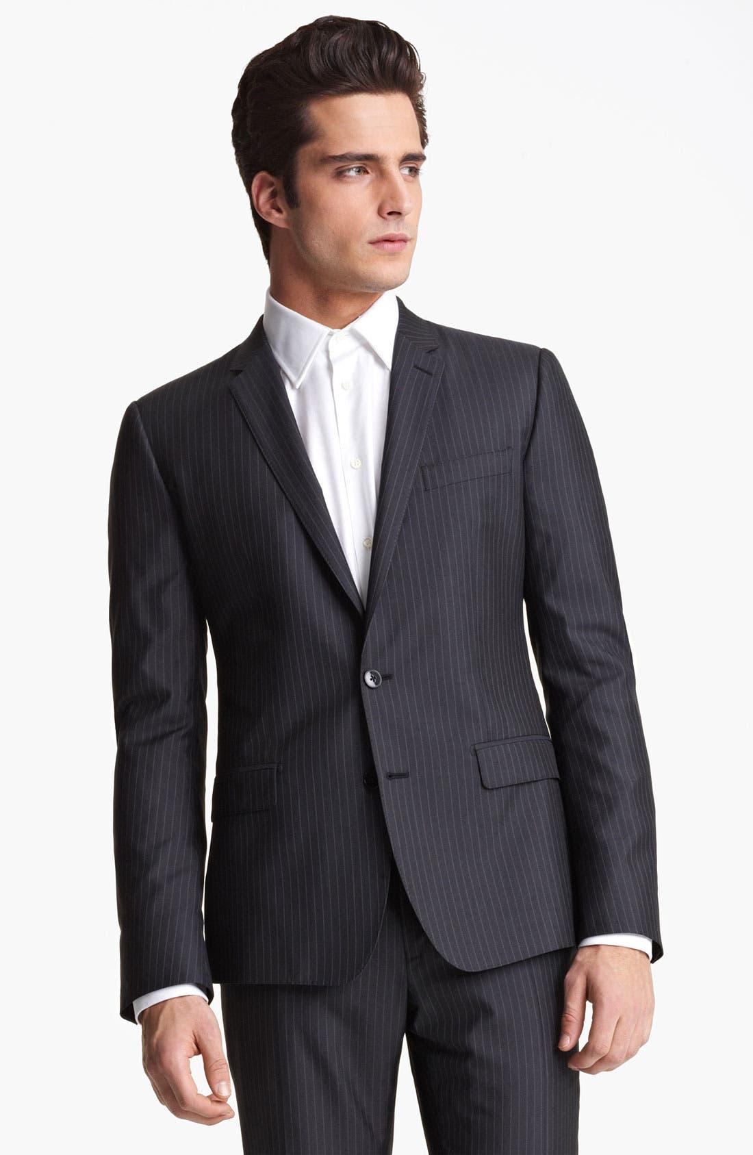 Alternate Image 4  - Dolce&Gabbana Pinstripe Wool & Silk Suit