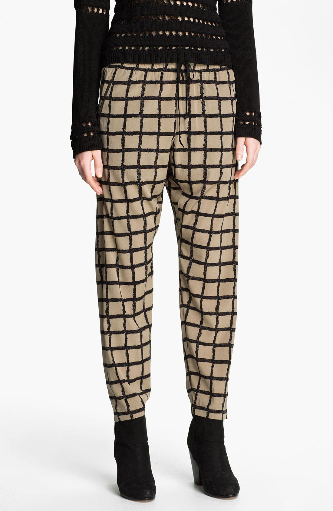 Alternate Image 1 Selected - rag & bone Windowpane Silk Pants