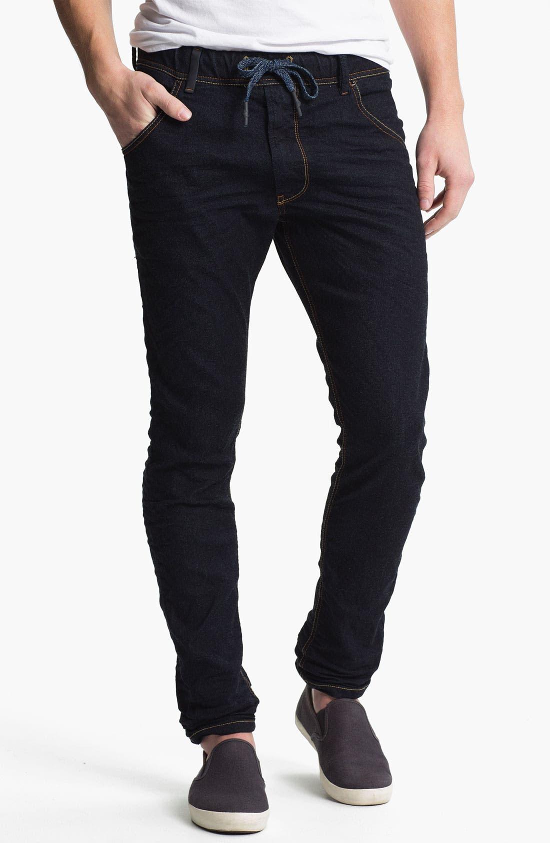 Alternate Image 1 Selected - DIESEL® 'Krooley - Jogg Jeans' Tapered Leg Sweatpants