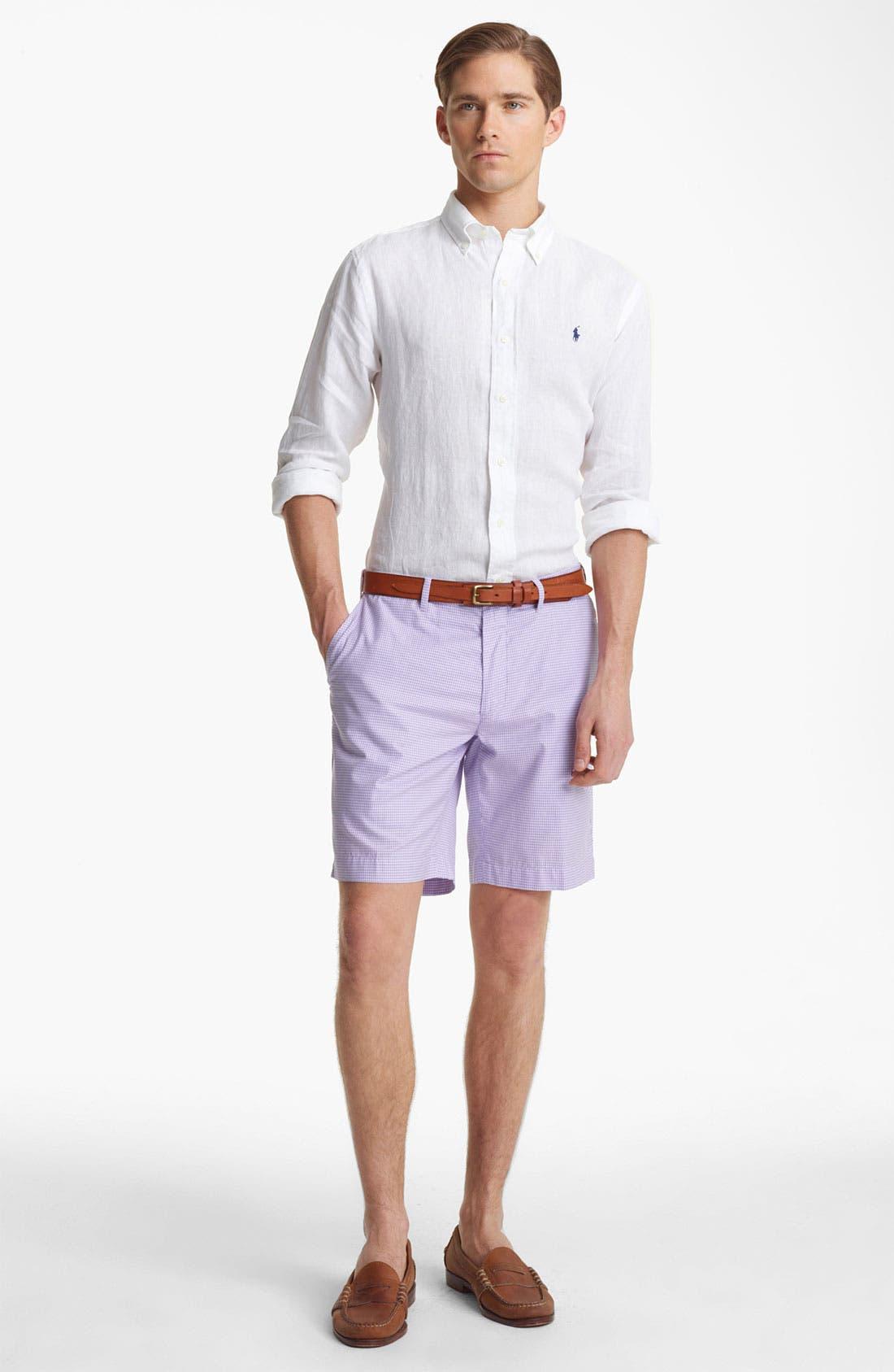 Alternate Image 3  - Polo Ralph Lauren Custom Fit Linen Sport Shirt