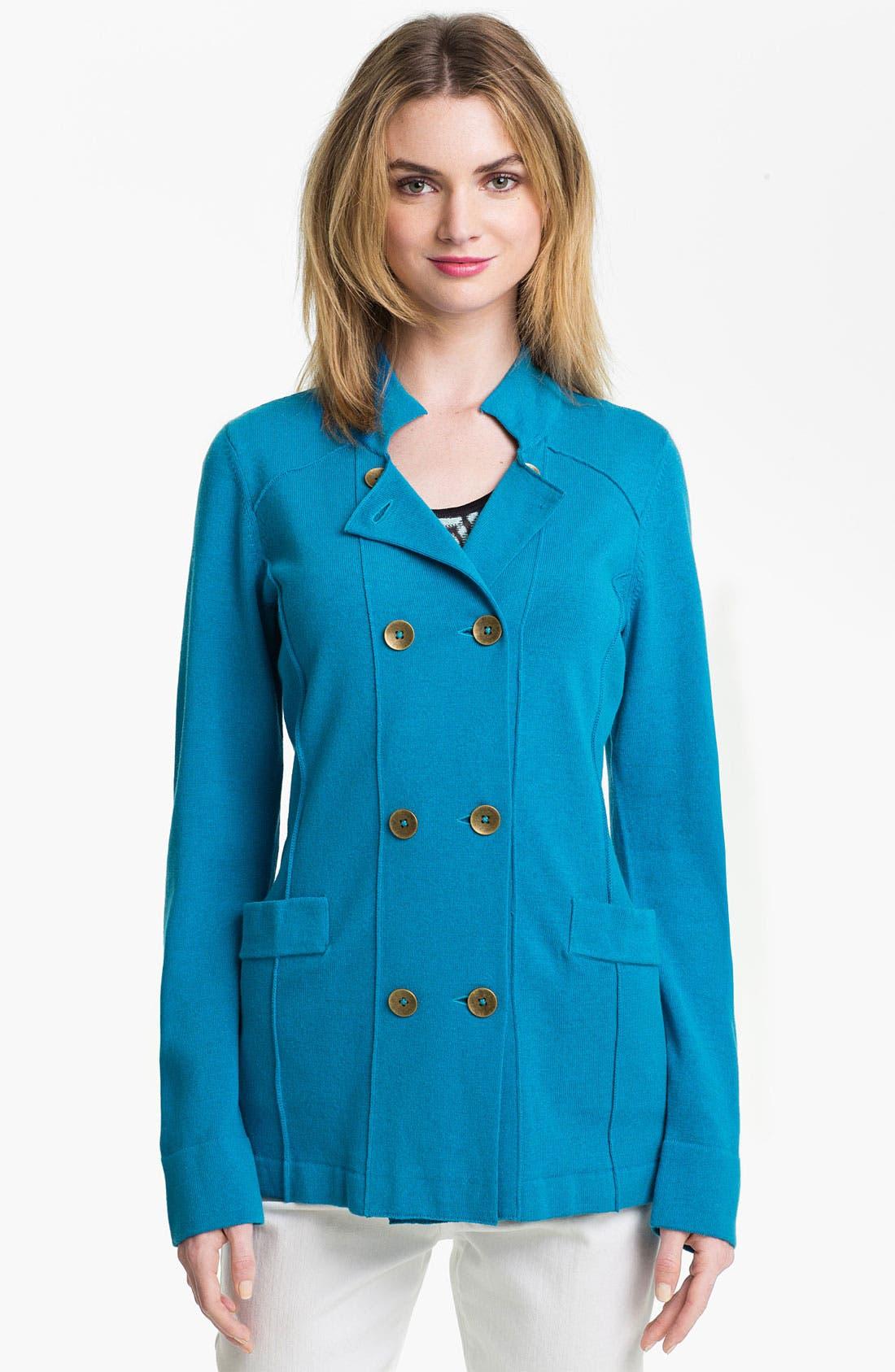Main Image - Nic + Zoe Double Breasted Knit Jacket