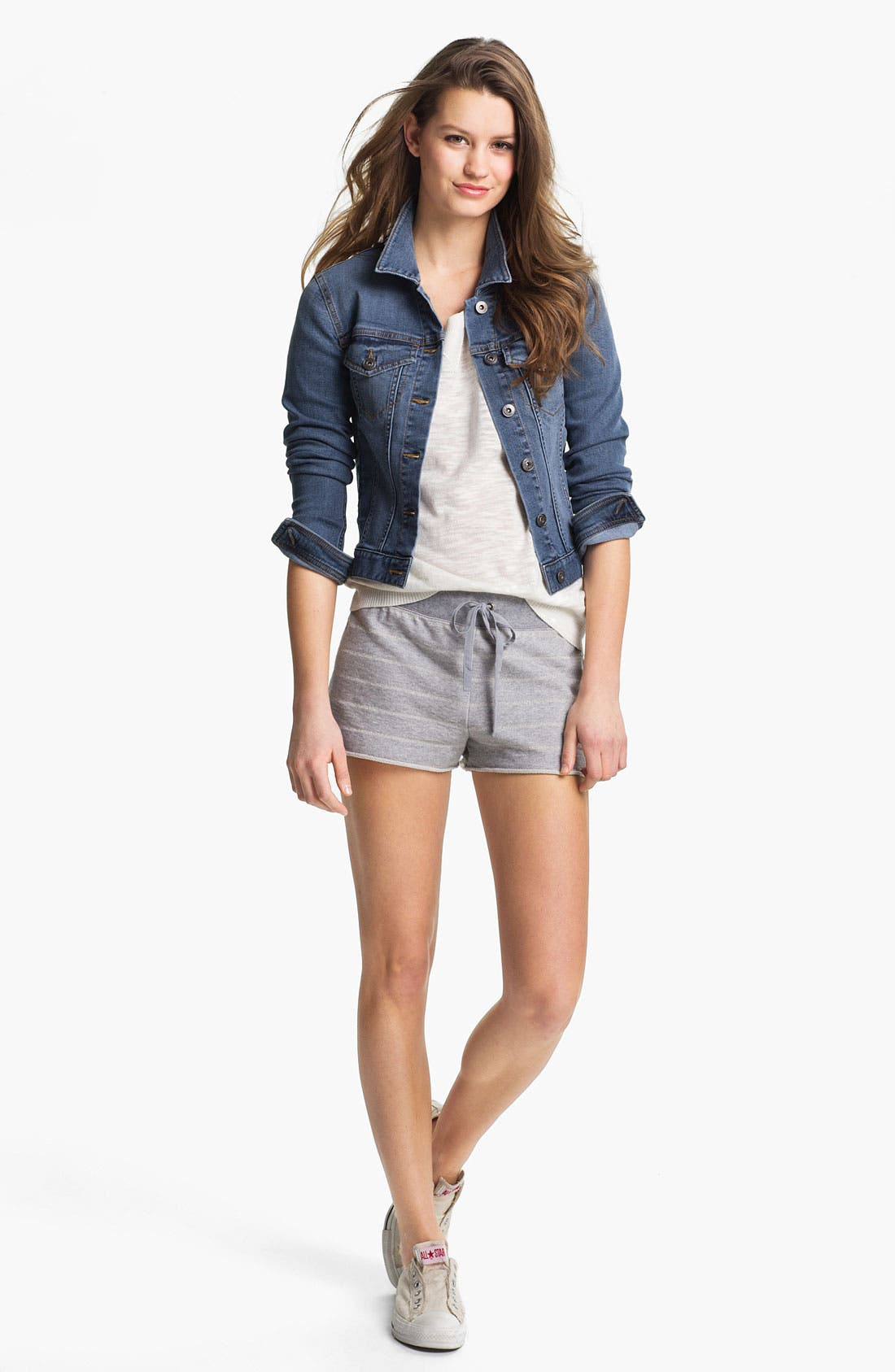 Alternate Image 4  - Two by Vince Camuto Jersey & Open Stitch Sweater