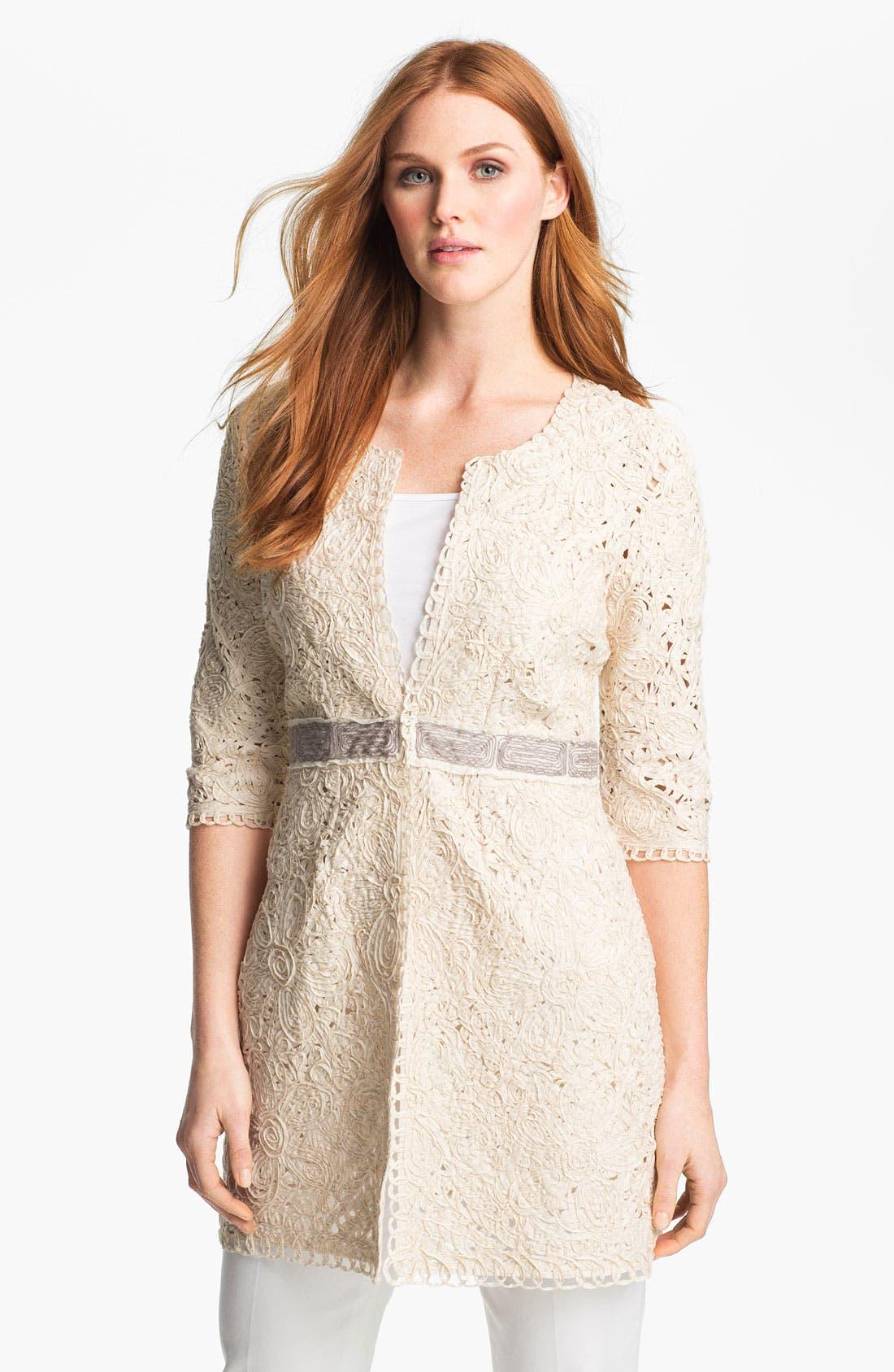 Alternate Image 1 Selected - Nic + Zoe Battenburg Lace Jacket