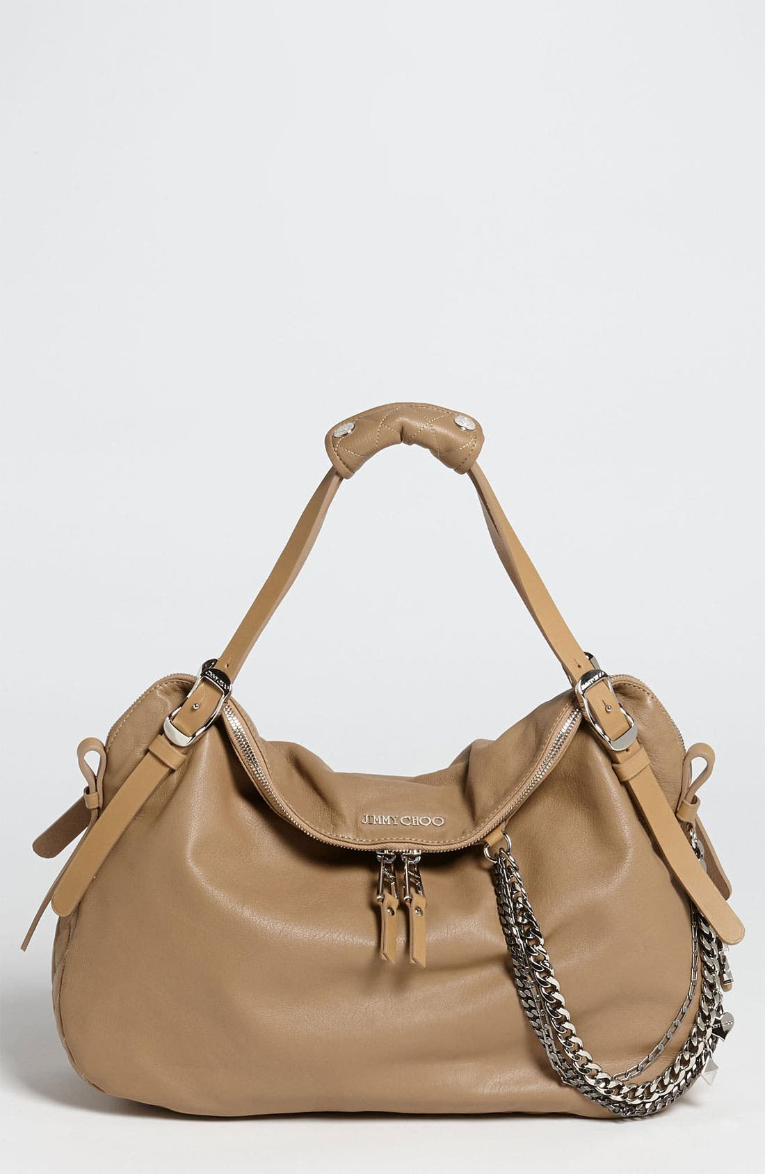 Main Image - Jimmy Choo 'Blake Biker' Leather Shopper