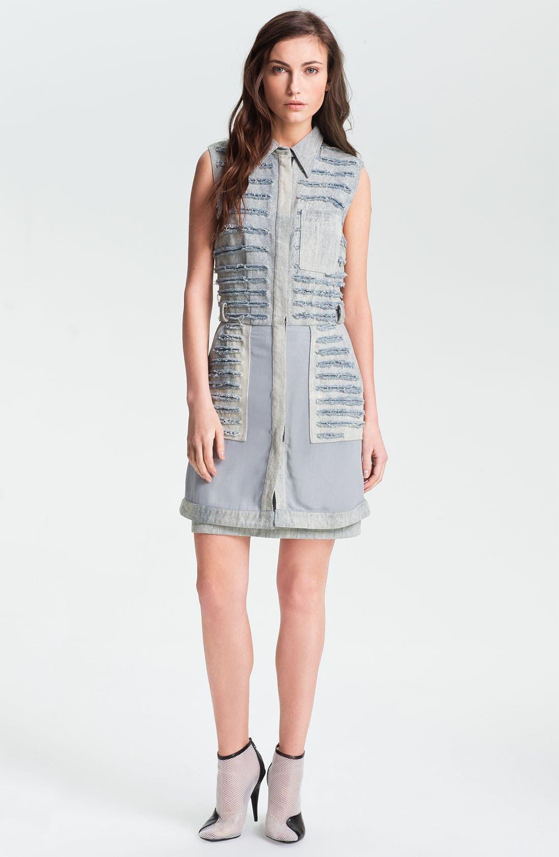 Alternate Image 1 Selected - 3.1 Phillip Lim Shredded Denim Shirtdress