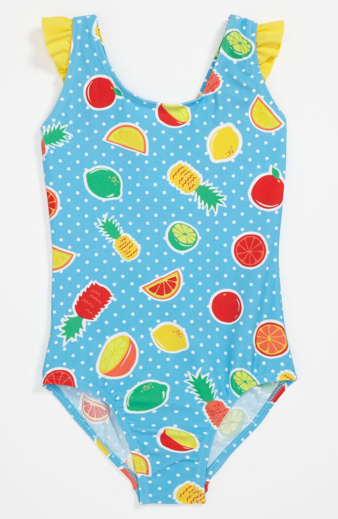 Main Image - Pumpkin Patch 'Fruit Salad' Swimsuit (Little Girls & Big Girls)