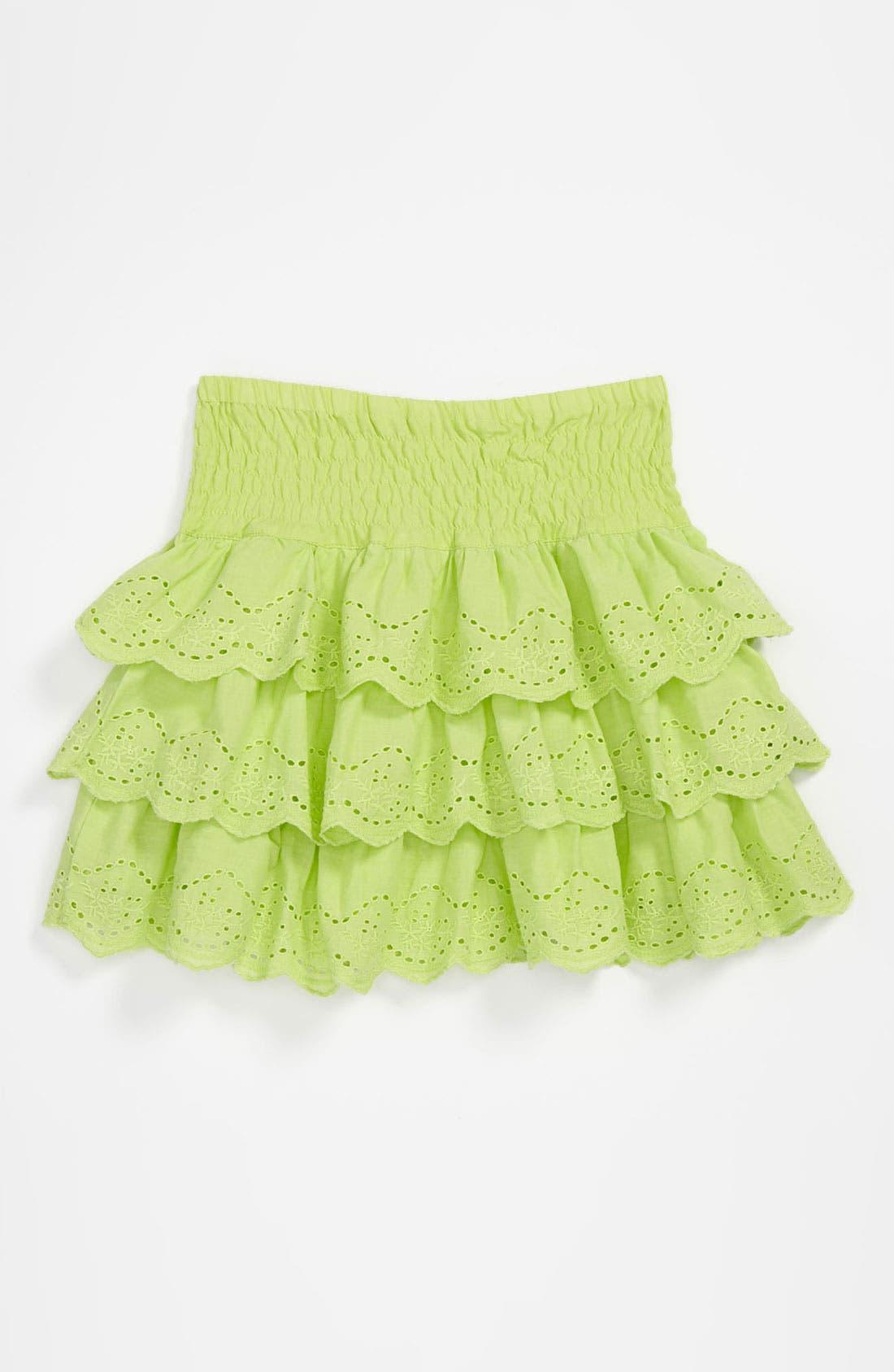 Main Image - Pumpkin Patch 'Anglaise' Tiered Eyelet Lace Skirt (Little Girls & Big Girls)