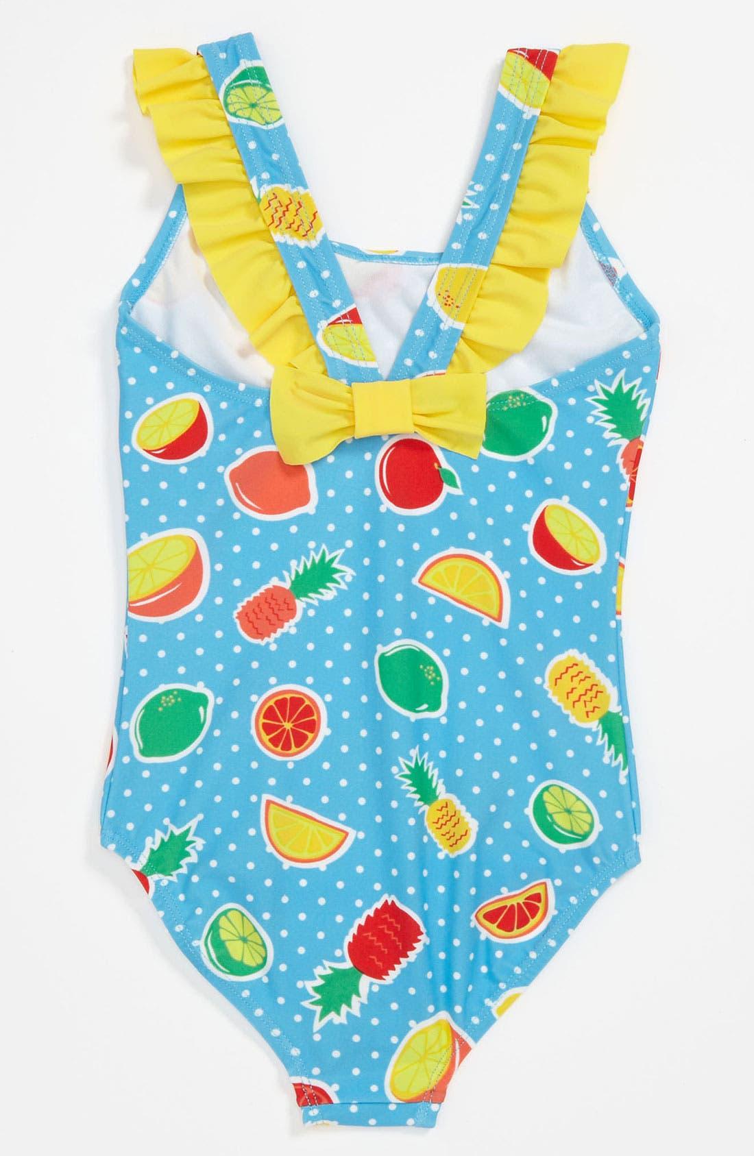 Alternate Image 2  - Pumpkin Patch 'Fruit Salad' Swimsuit (Little Girls & Big Girls)