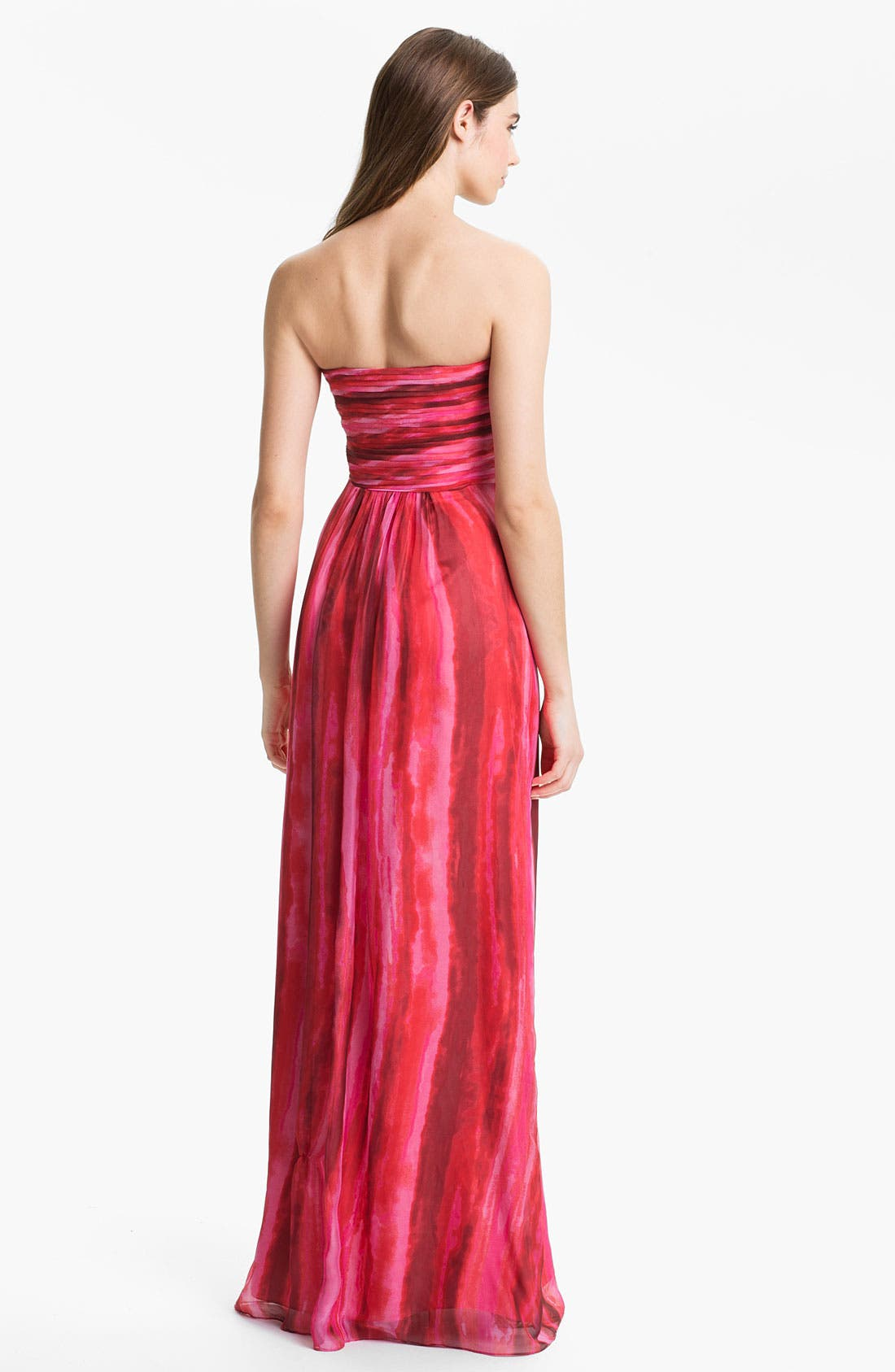 Alternate Image 2  - Laundry by Shelli Segal Strapless Twist Front Chiffon Gown