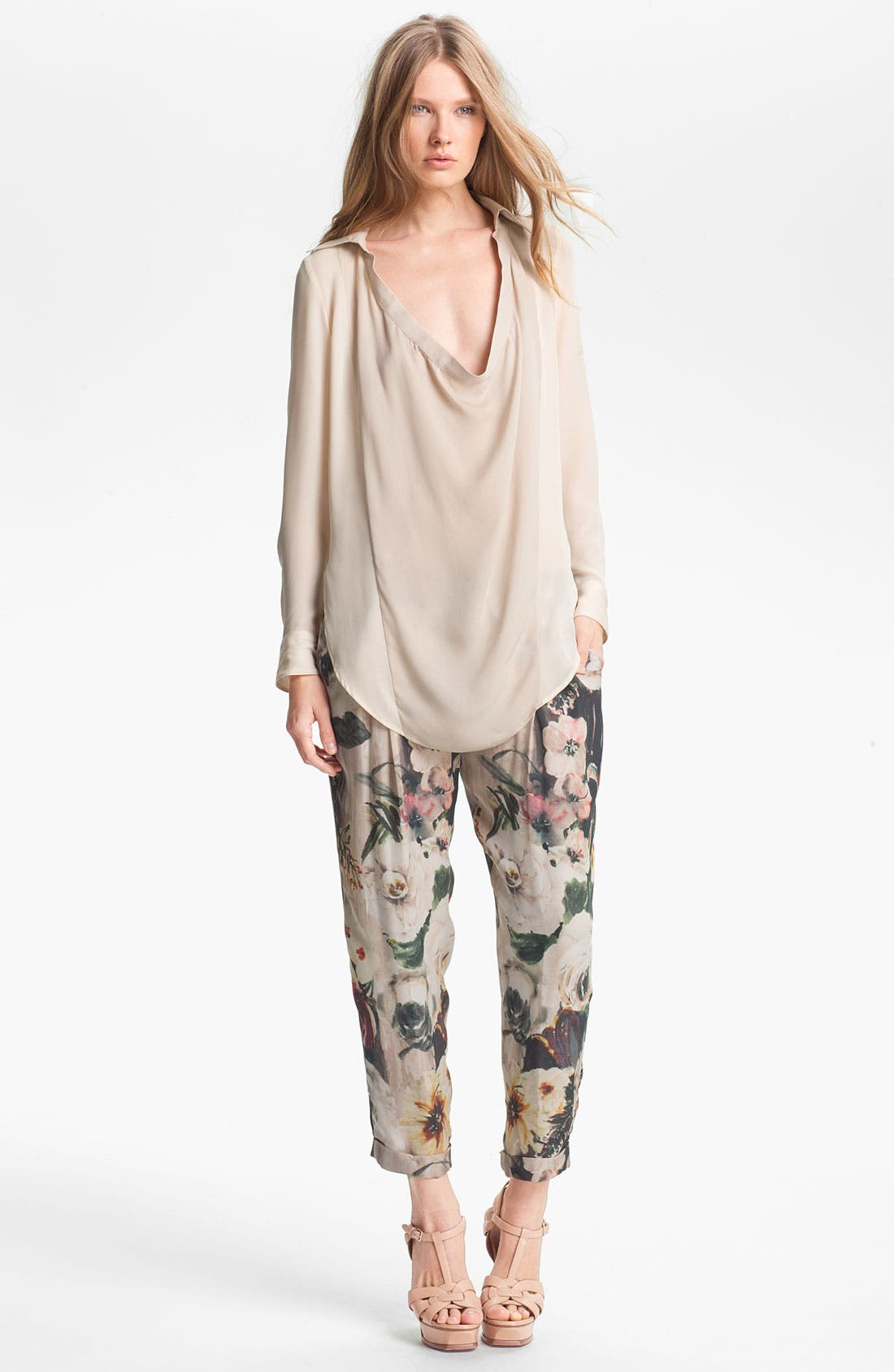 Alternate Image 6  - Haute Hippie Draped Silk Blouse