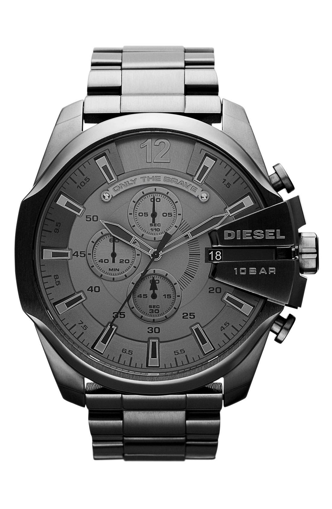 Alternate Image 1 Selected - DIESEL® 'Mega Chief' Bracelet Watch, 51mm