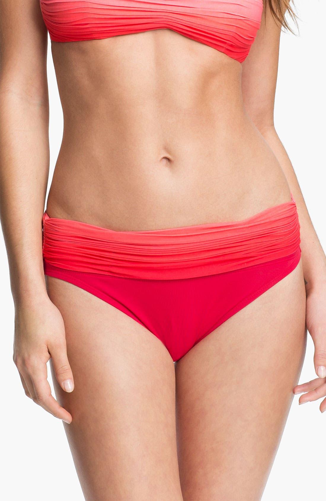 Alternate Image 1 Selected - Carmen Marc Valvo Roll Waist Bikini Bottoms