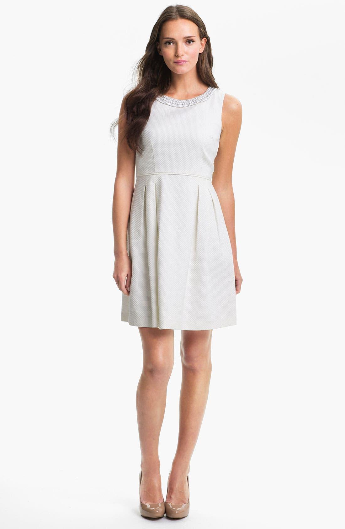 Alternate Image 1 Selected - Trina Turk 'Seles' Embellished Fit & Flare Dress