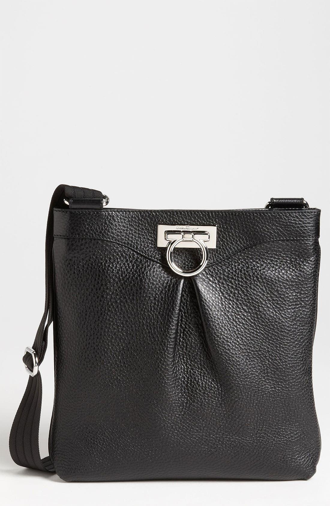 Main Image - Salvatore Ferragamo 'Grazielle Vitello' Leather Crossbody Bag