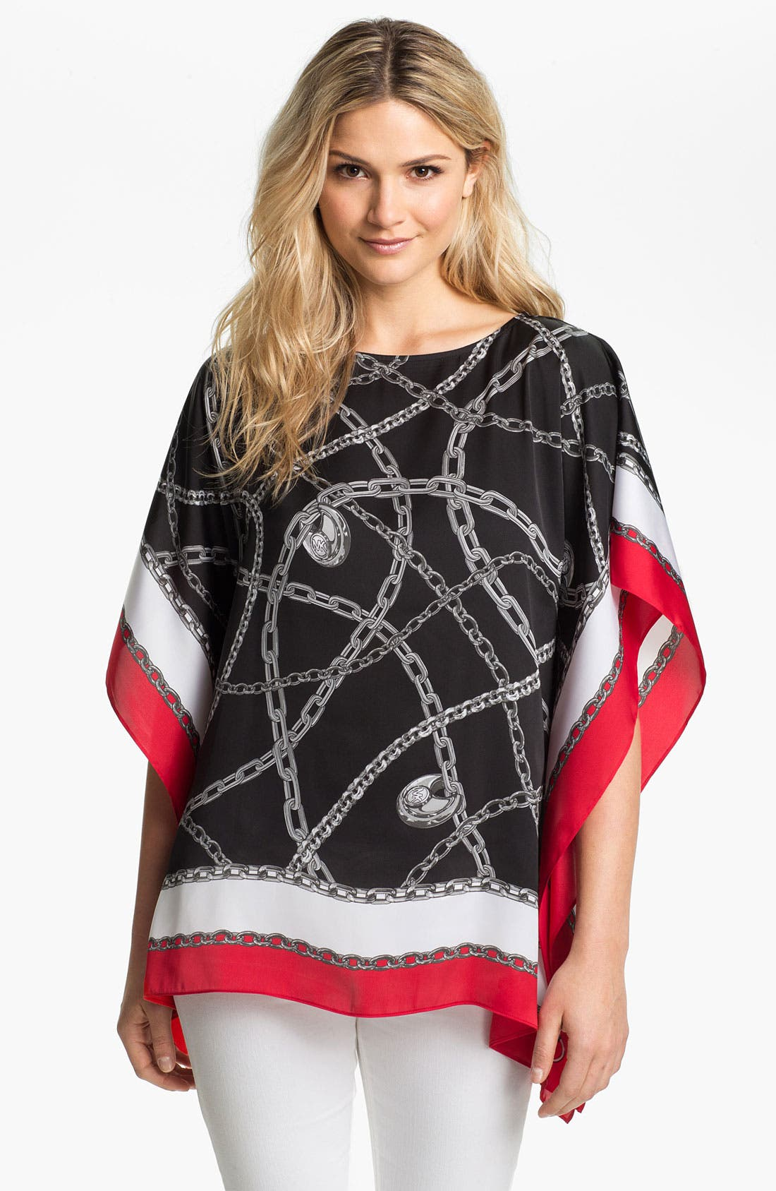 Alternate Image 1 Selected - MICHAEL Michael Kors 'Red London' Kimono Tunic