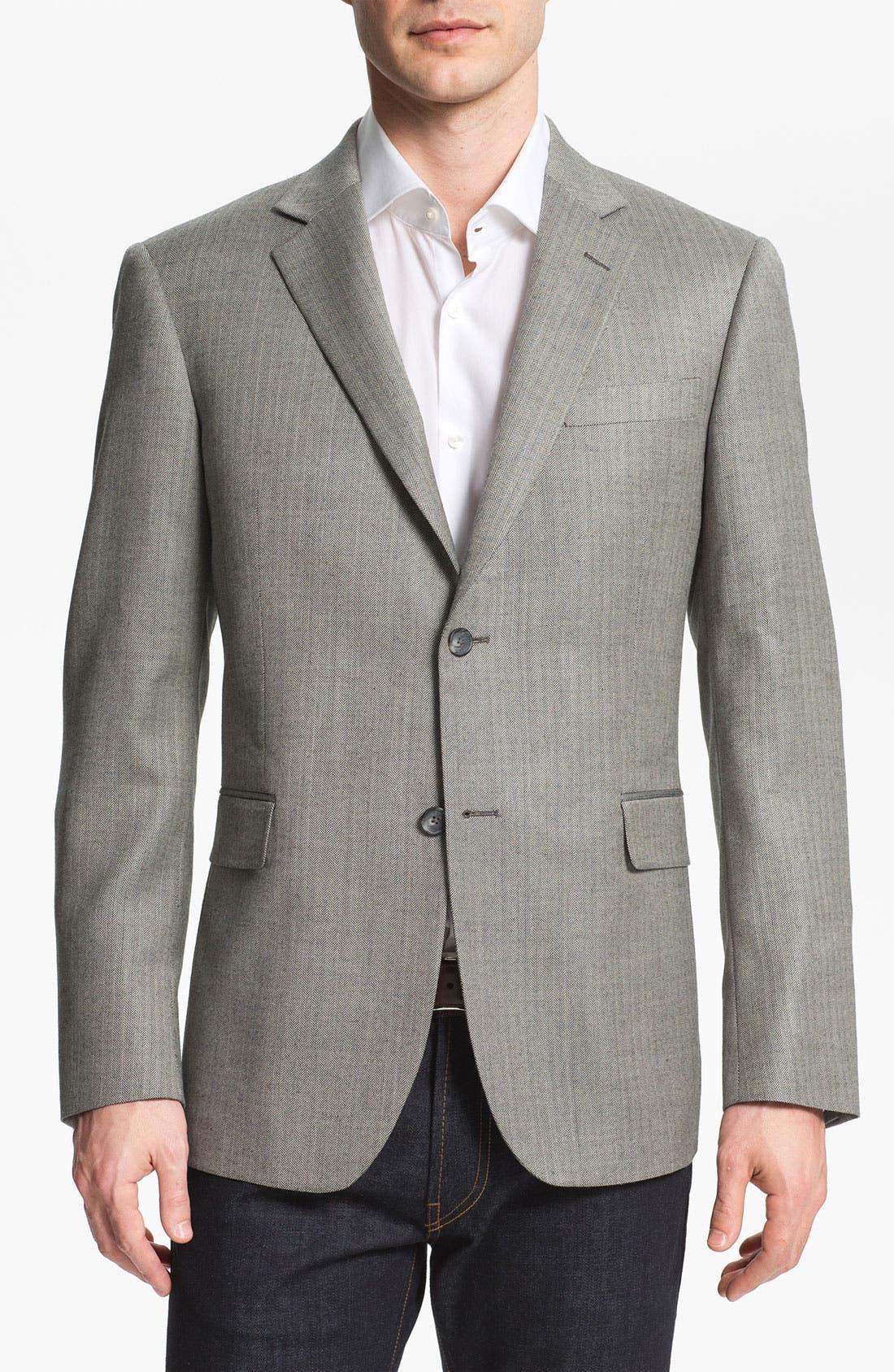 Alternate Image 1 Selected - John W. Nordstrom® Silk Blend Blazer
