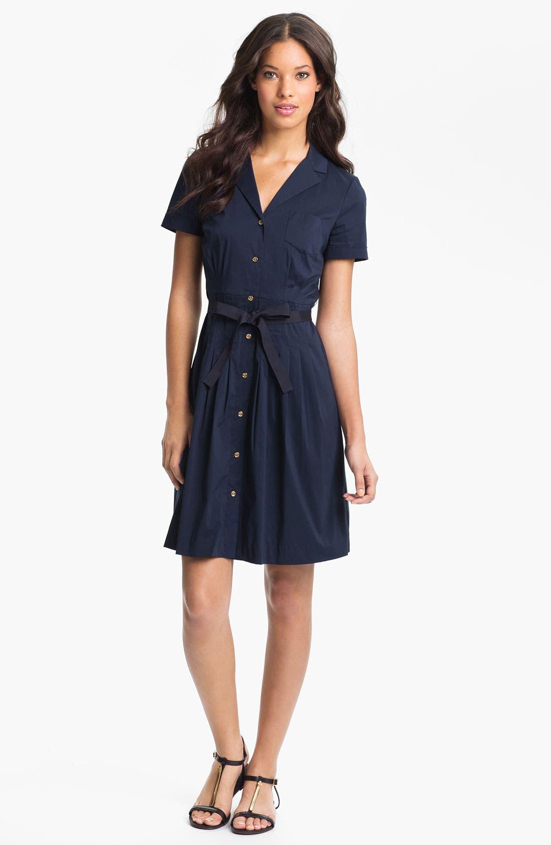 Alternate Image 1 Selected - Tory Burch 'Janet' Cotton Blend Shirtdress